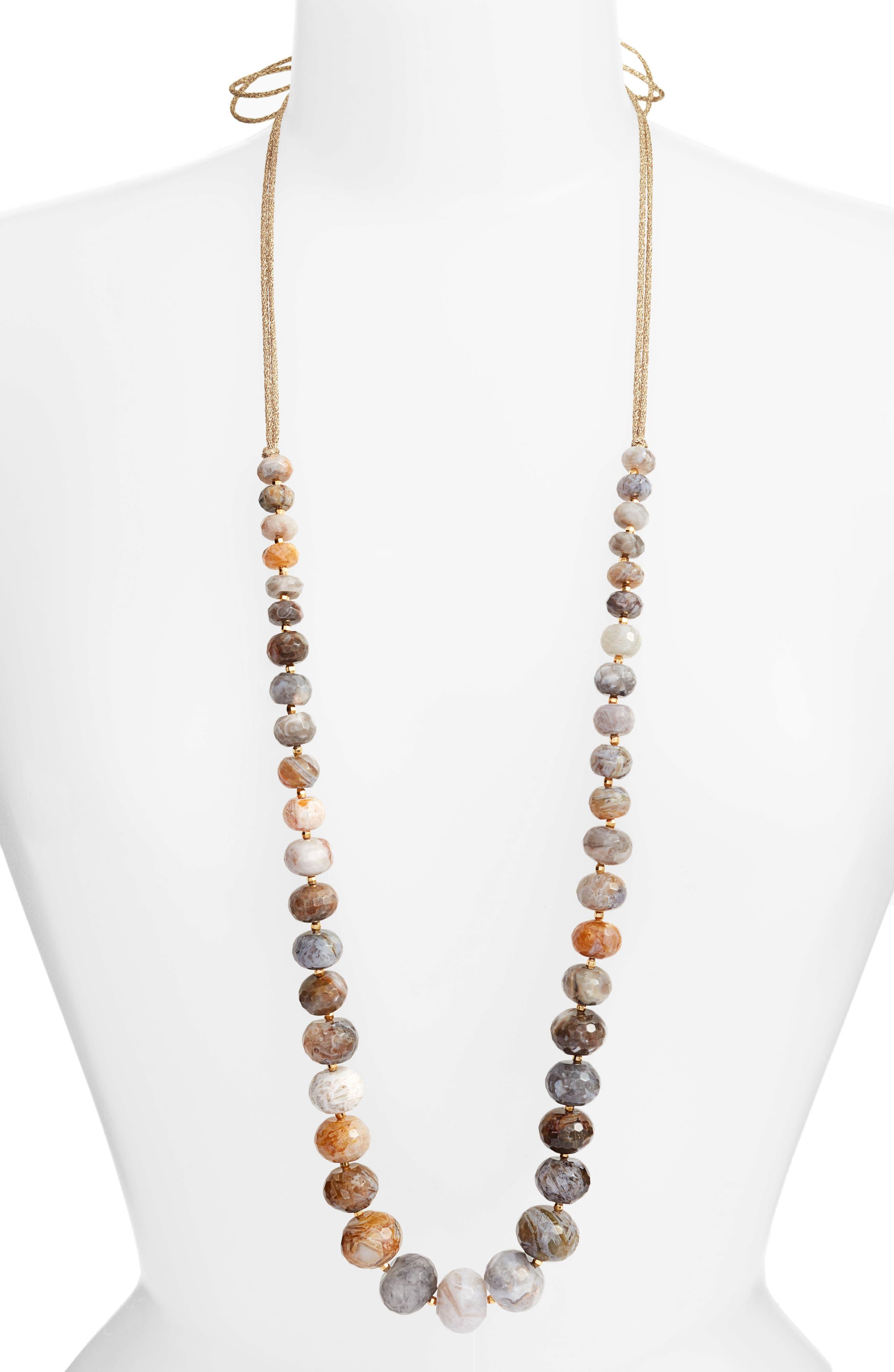 Chan Luu Graduated Semiprecious Stone Necklace