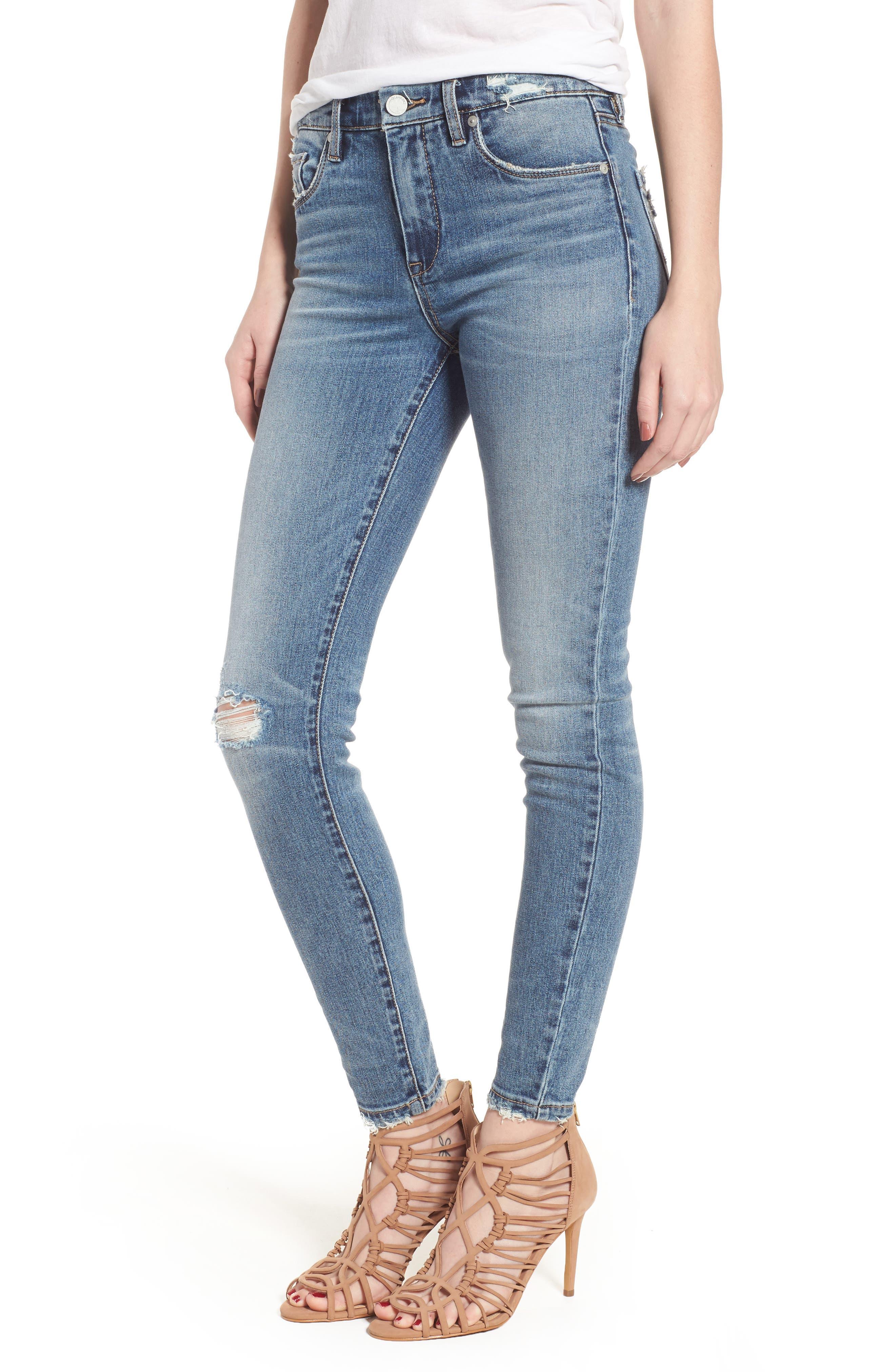 BLANKNYC Trip Switch Distressed Skinny Jeans
