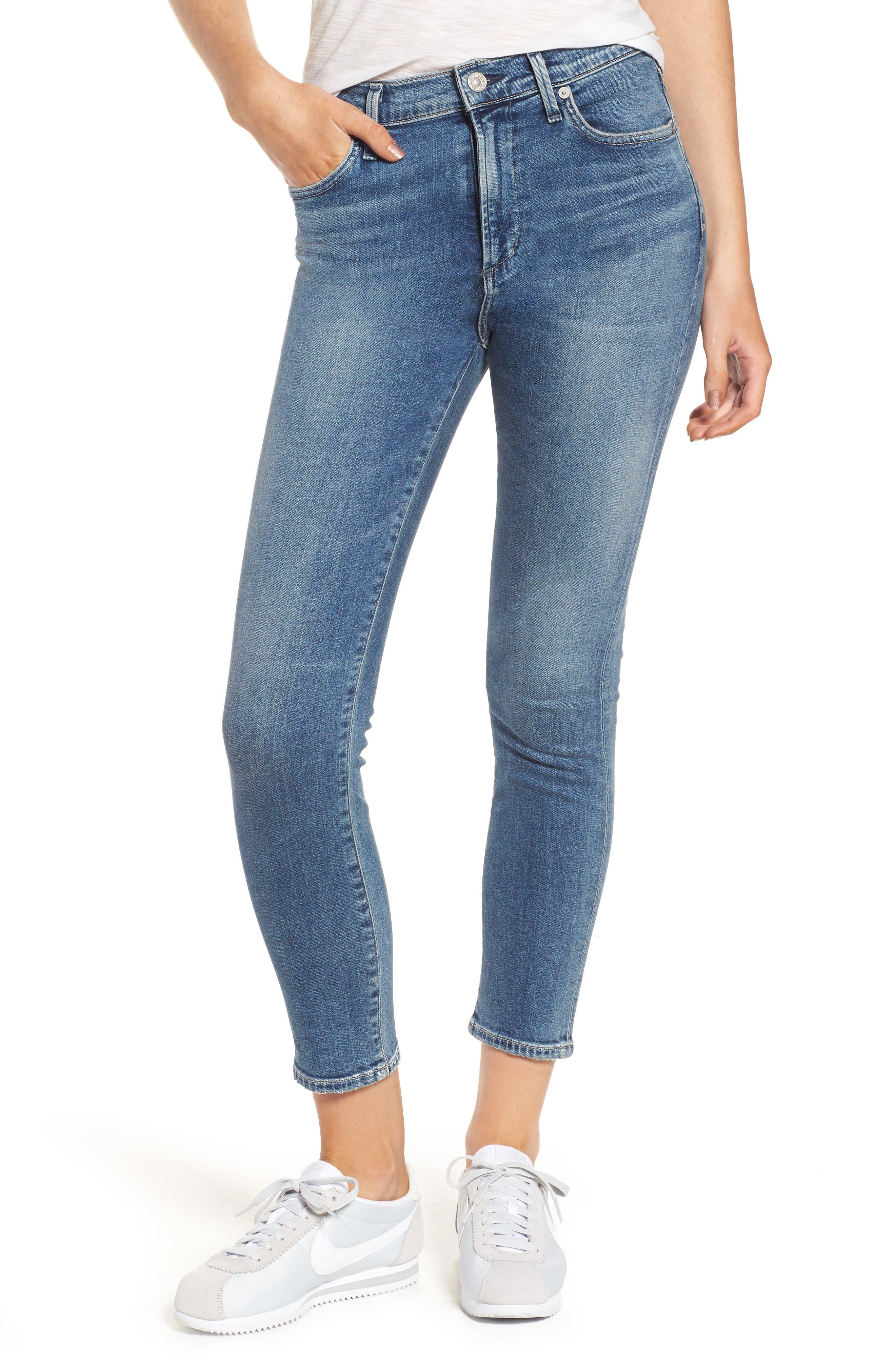 Rocket Crop Skinny Jeans,                         Main,                         color, Orbit
