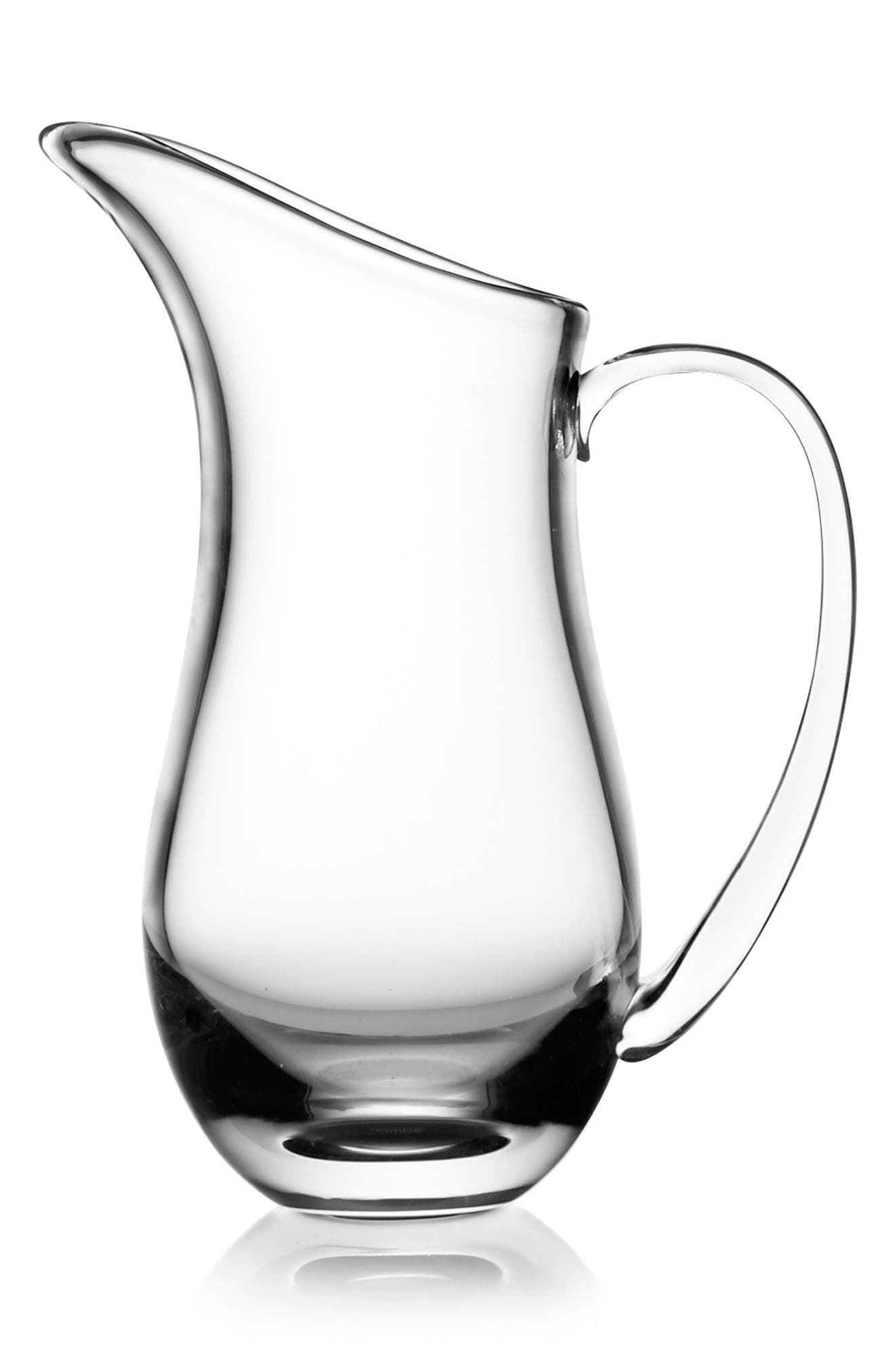 Moderne Medium Pitcher,                             Main thumbnail 1, color,                             Clear