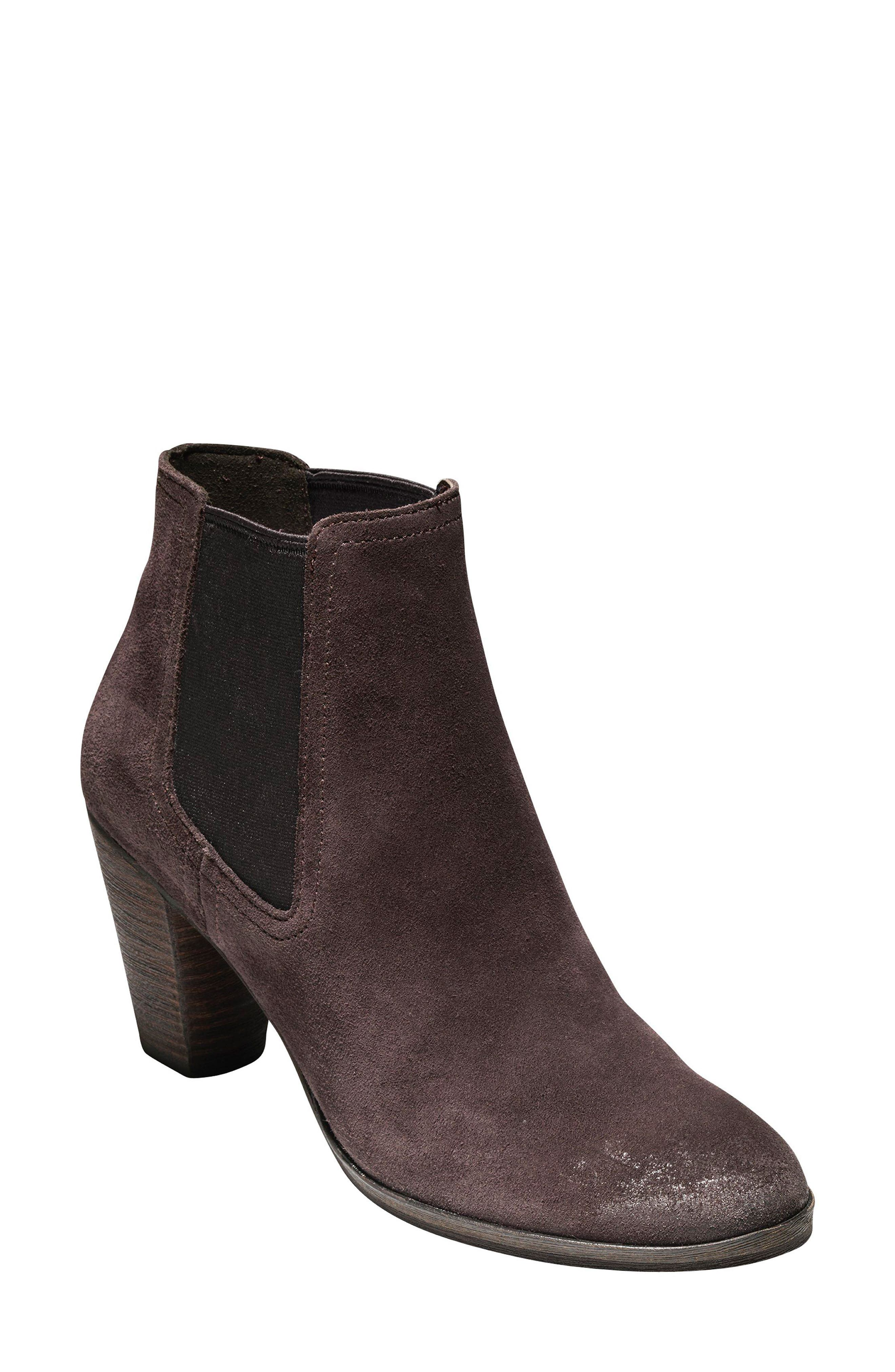 Hayes Chelsea Boot,                             Main thumbnail 1, color,                             Java Suede