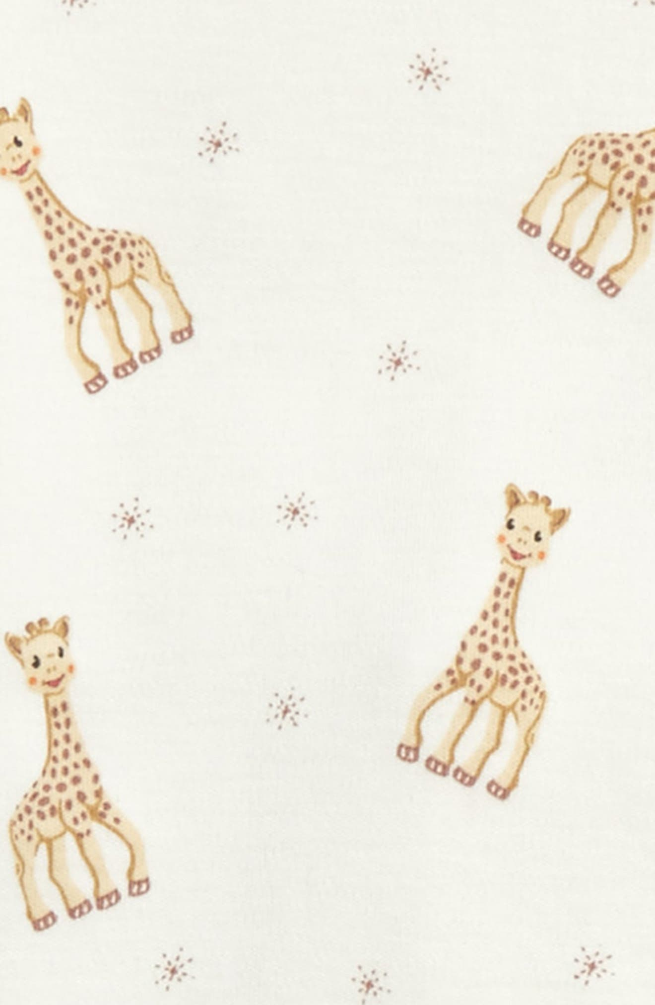 Sophie la Girafe Fitted Two-Piece Pajamas,                             Alternate thumbnail 2, color,                             Ecru Print