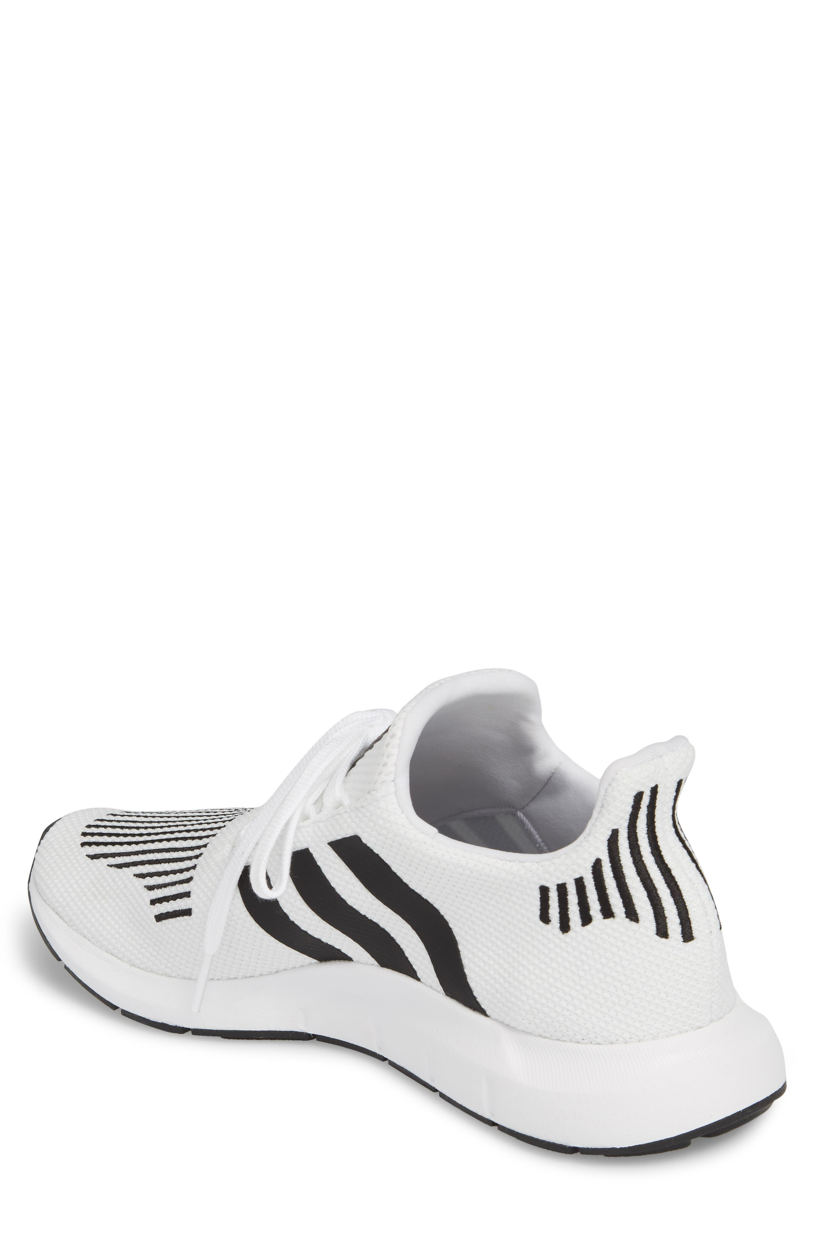 Swift Run Sneaker,                             Alternate thumbnail 2, color,                             White/ Core Black/ Grey