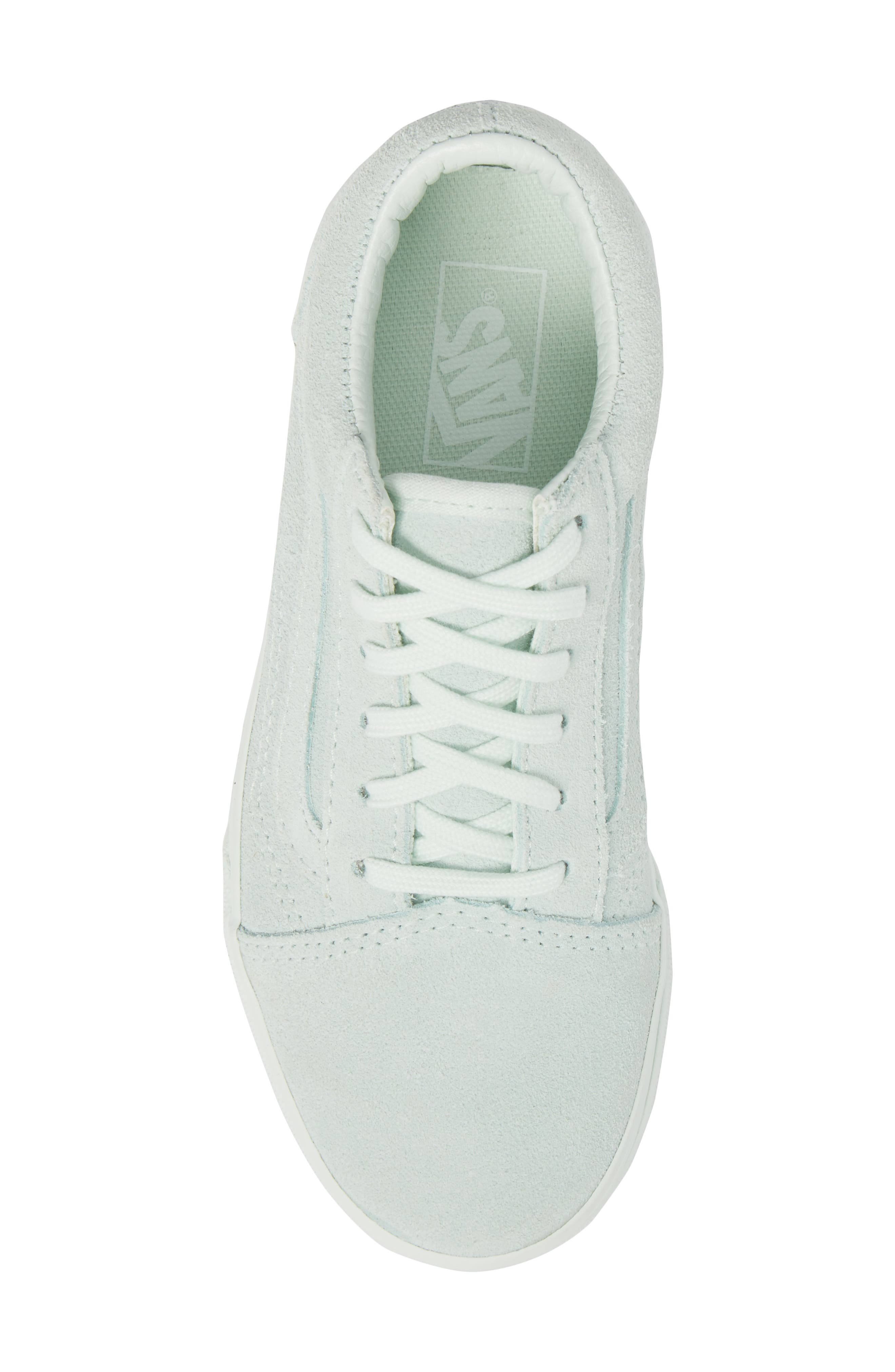 Old Skool Low Top Sneaker,                             Alternate thumbnail 5, color,                             Suede Mono/ Aqua Glass
