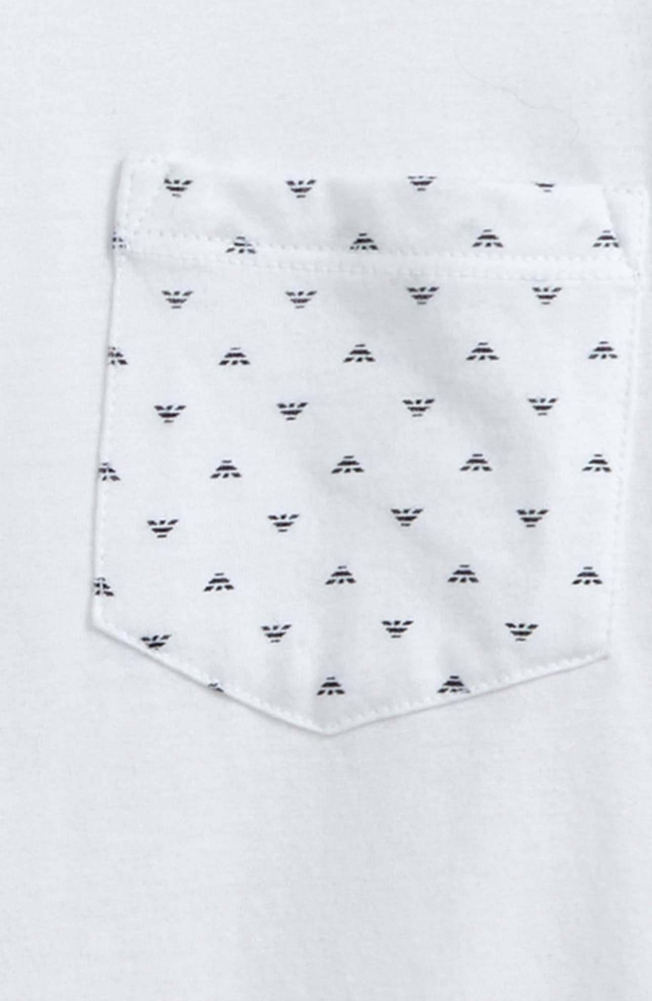 Logo Pocket T-Shirt,                             Alternate thumbnail 2, color,                             White