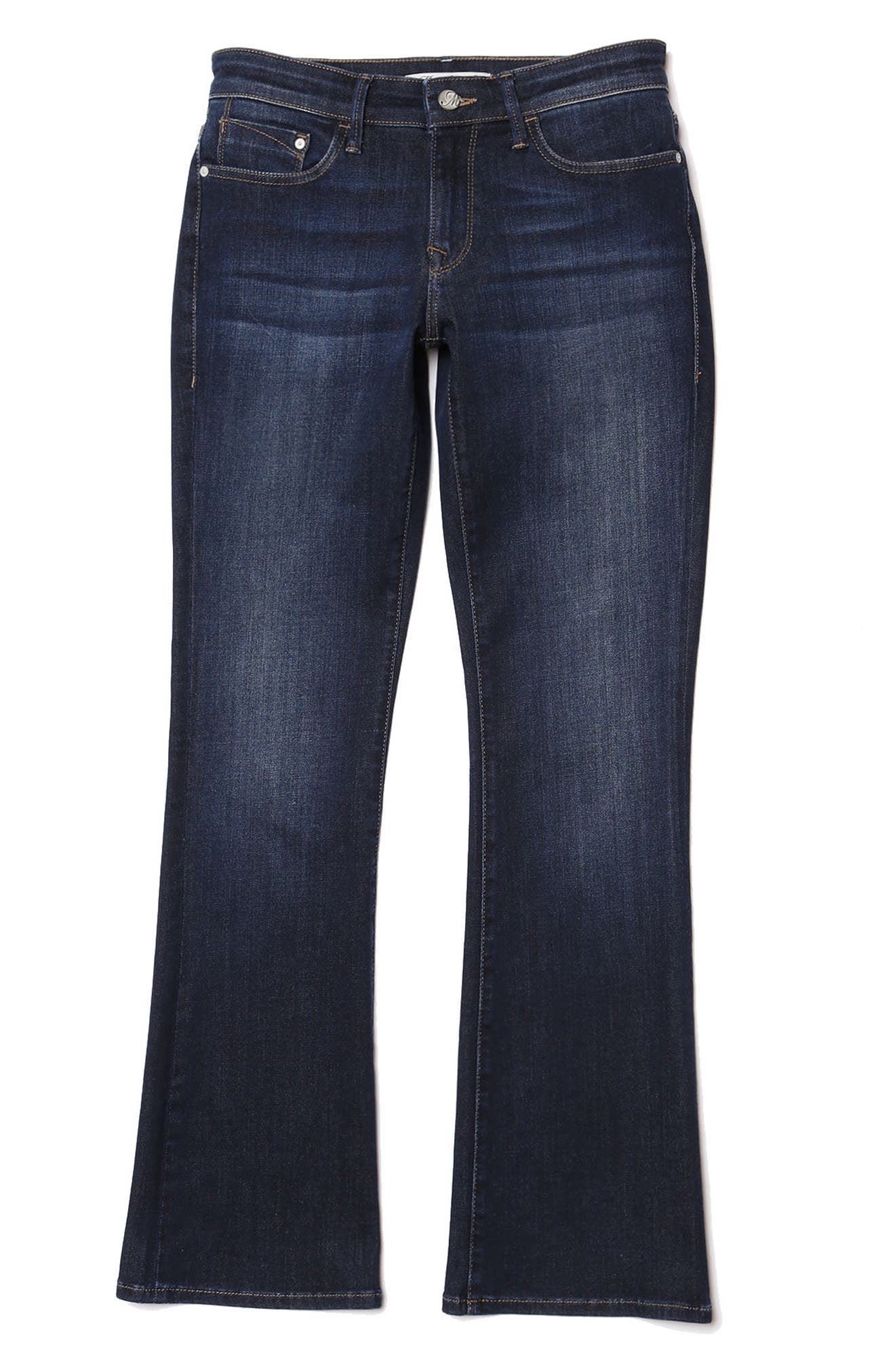 Molly Classic Bootcuts Jeans,                             Alternate thumbnail 5, color,                             Deep Super Soft