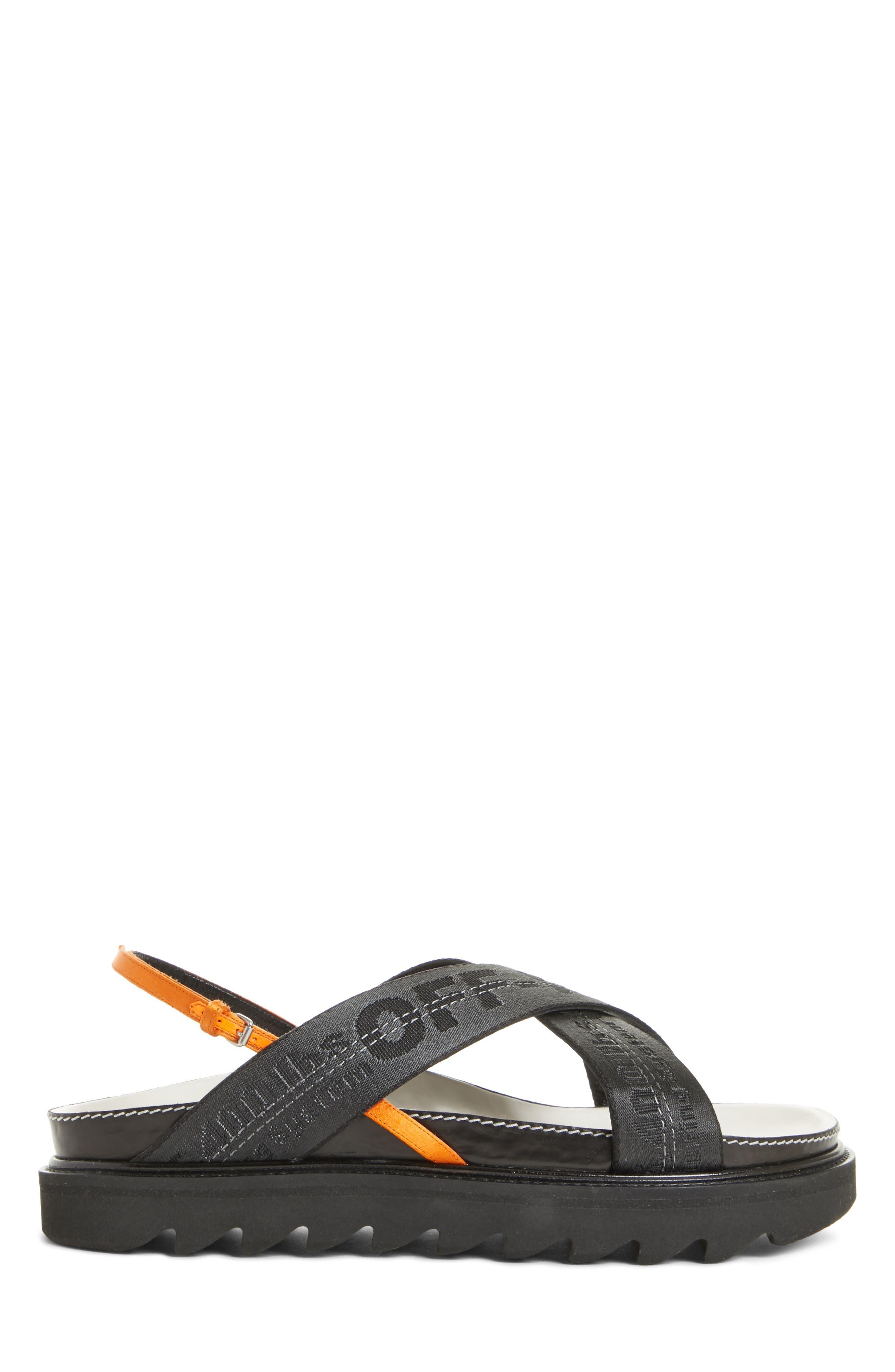 Industrial Belt Sandal,                             Alternate thumbnail 3, color,                             Black Black