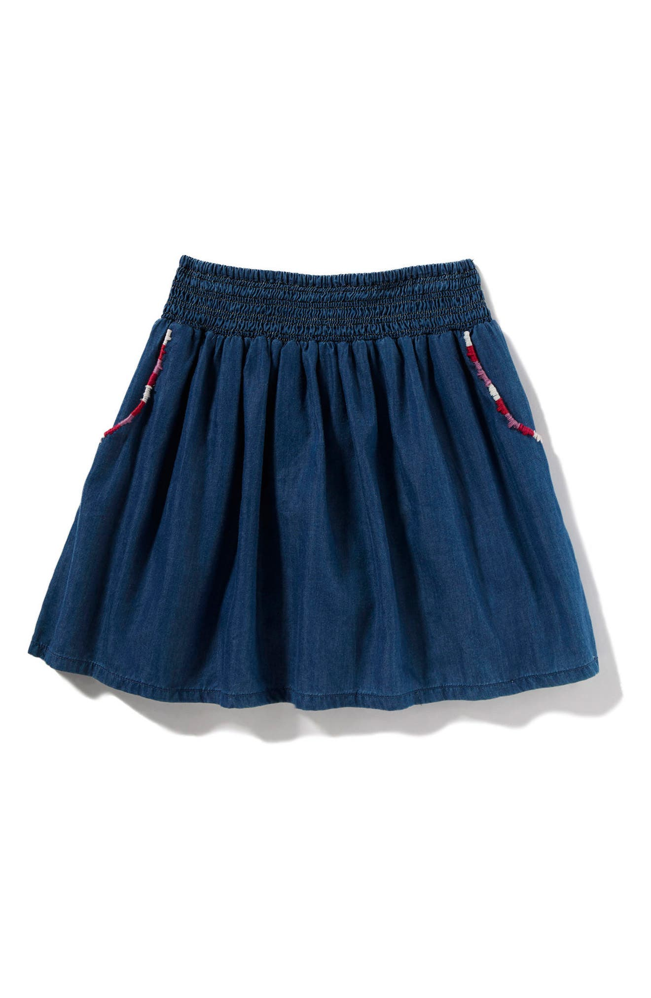 Alternate Image 1 Selected - Peek Bellen Chambray Skort (Toddler Girls, Little Girls & Big Girls)