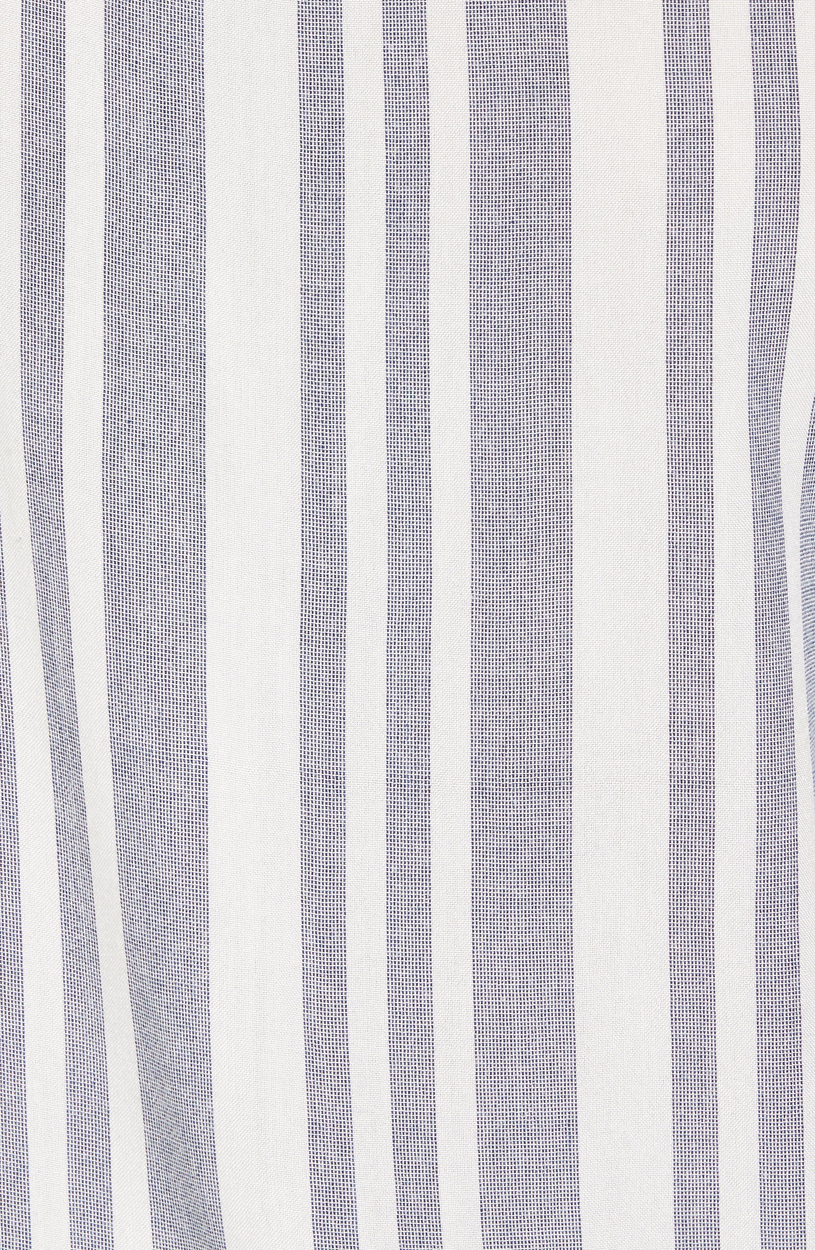 Stripe Woven Shirt,                             Alternate thumbnail 5, color,                             Navy White Eoe Stripe