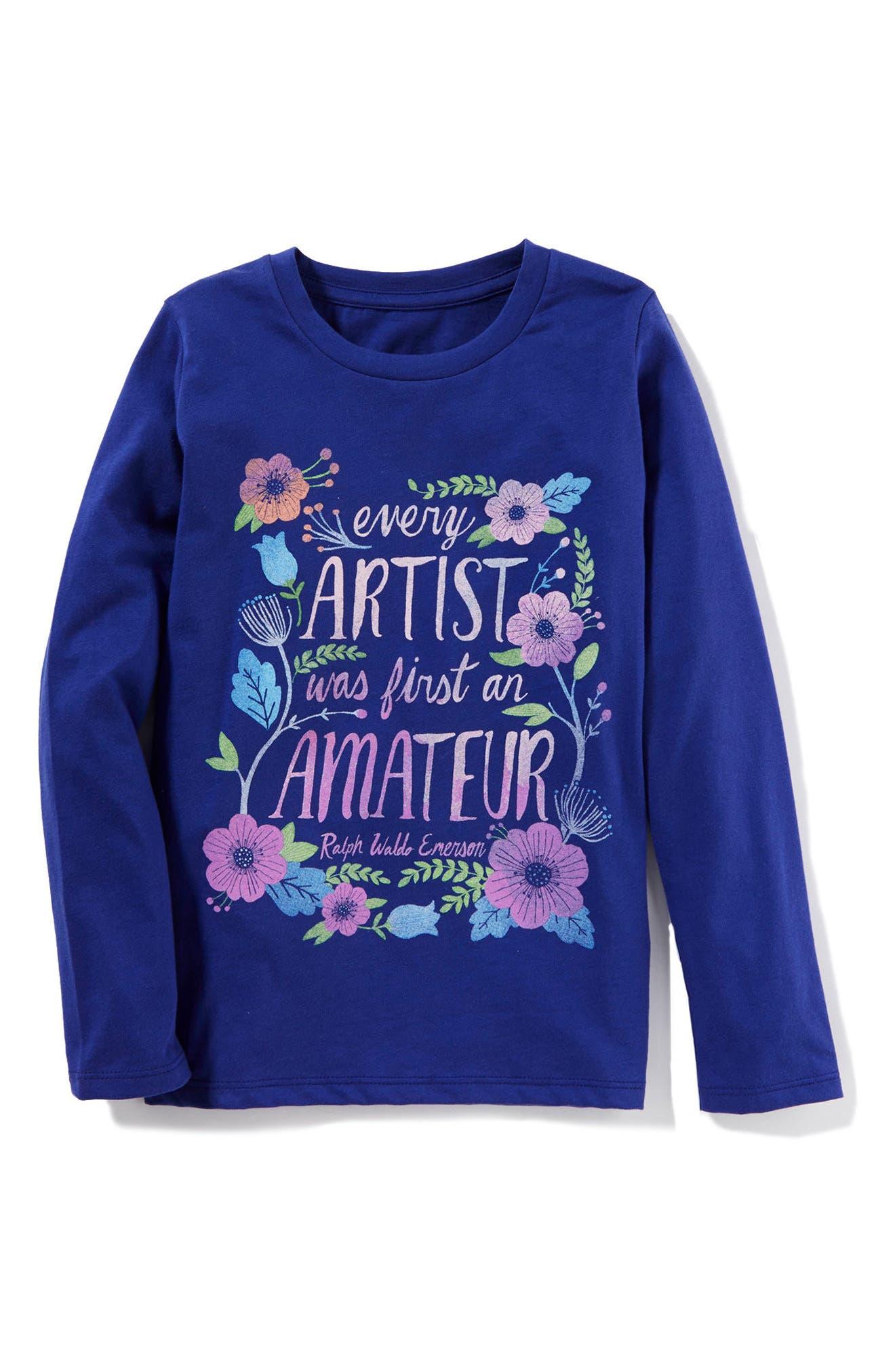 Main Image - Peek Every Artist Graphic Sweatshirt (Toddler Girls, Little Girls & Big Girls)
