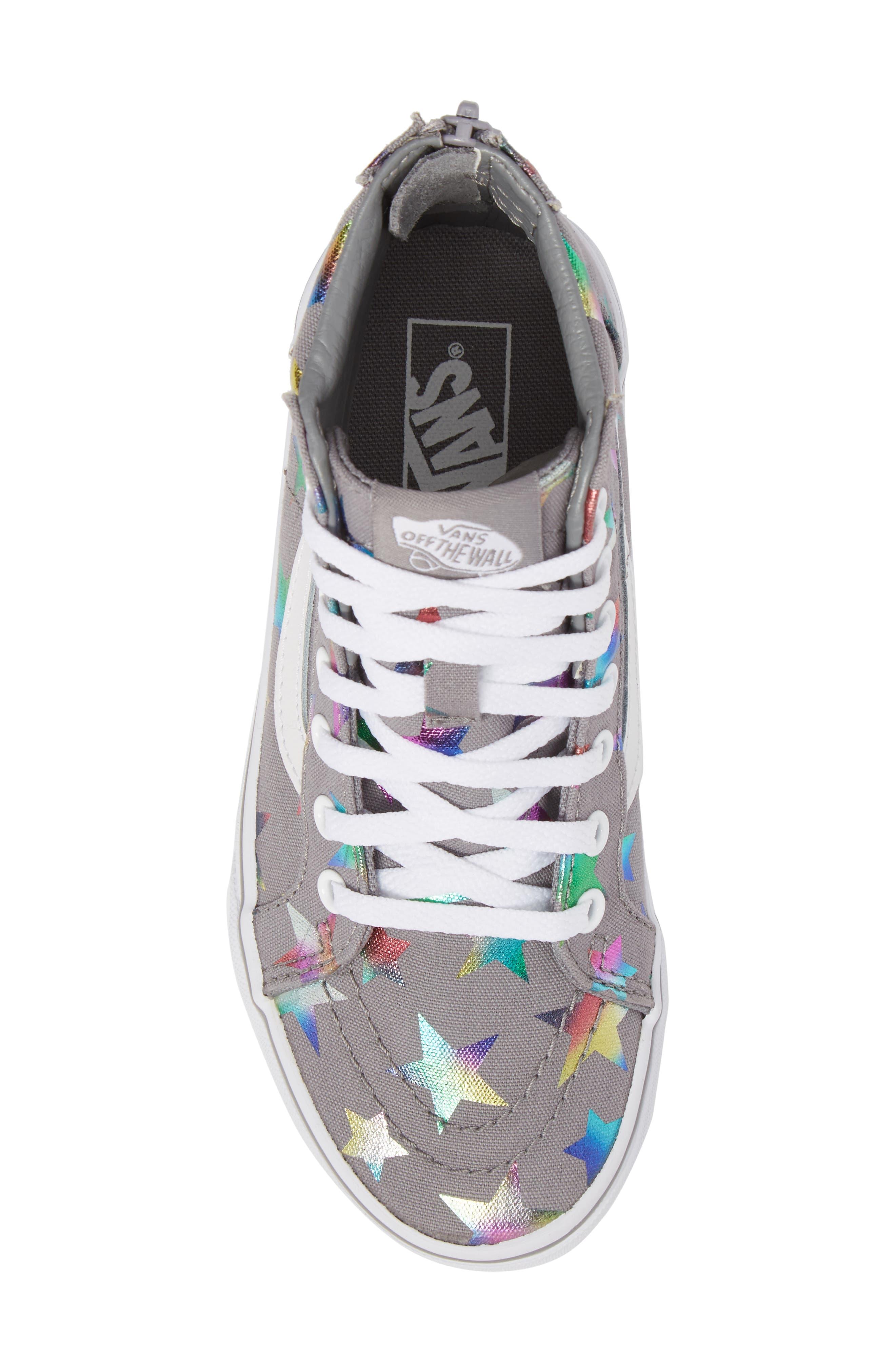 Alternate Image 5  - Vans Sk8-Hi Zip Star Print High Top Sneaker (Baby, Walker, Toddler, Little Kid & Big Kid)