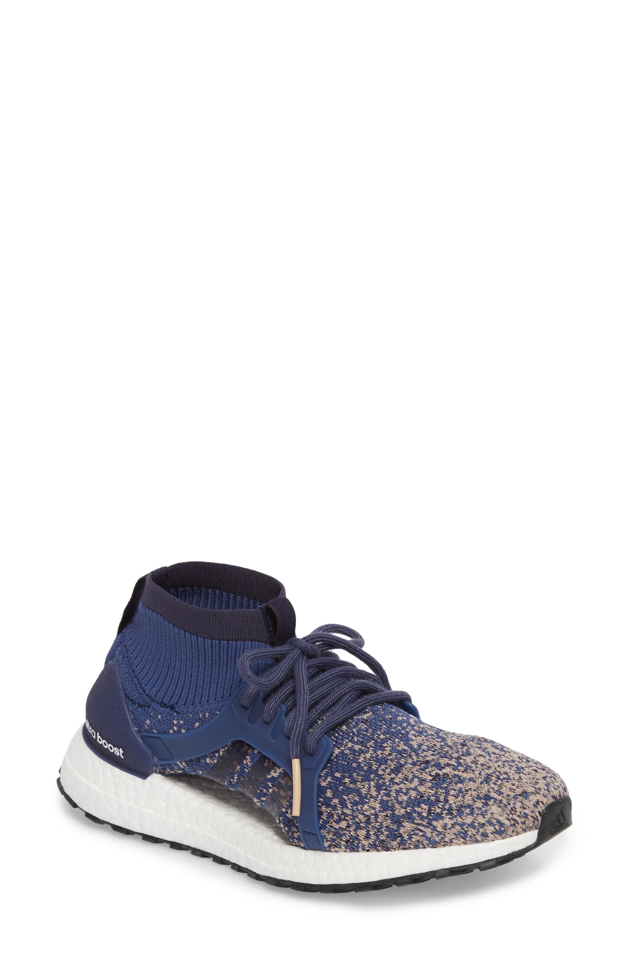 UltraBoost X All Terrain Water Resistant Running Shoe,                             Main thumbnail 1, color,                             Noble Indigo/ Noble Indigo
