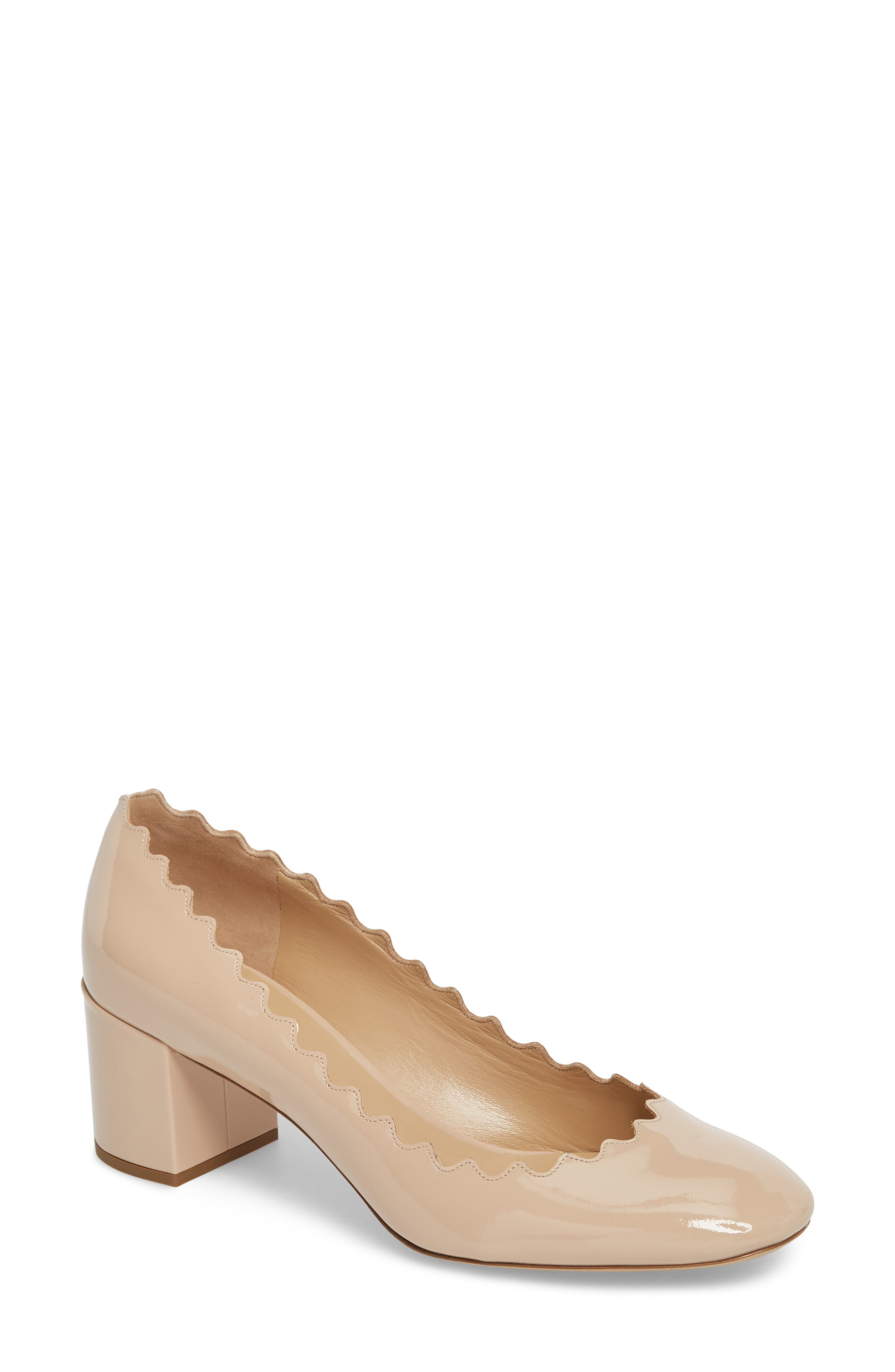 Lauren Pump,                             Main thumbnail 1, color,                             Mild Beige Patent