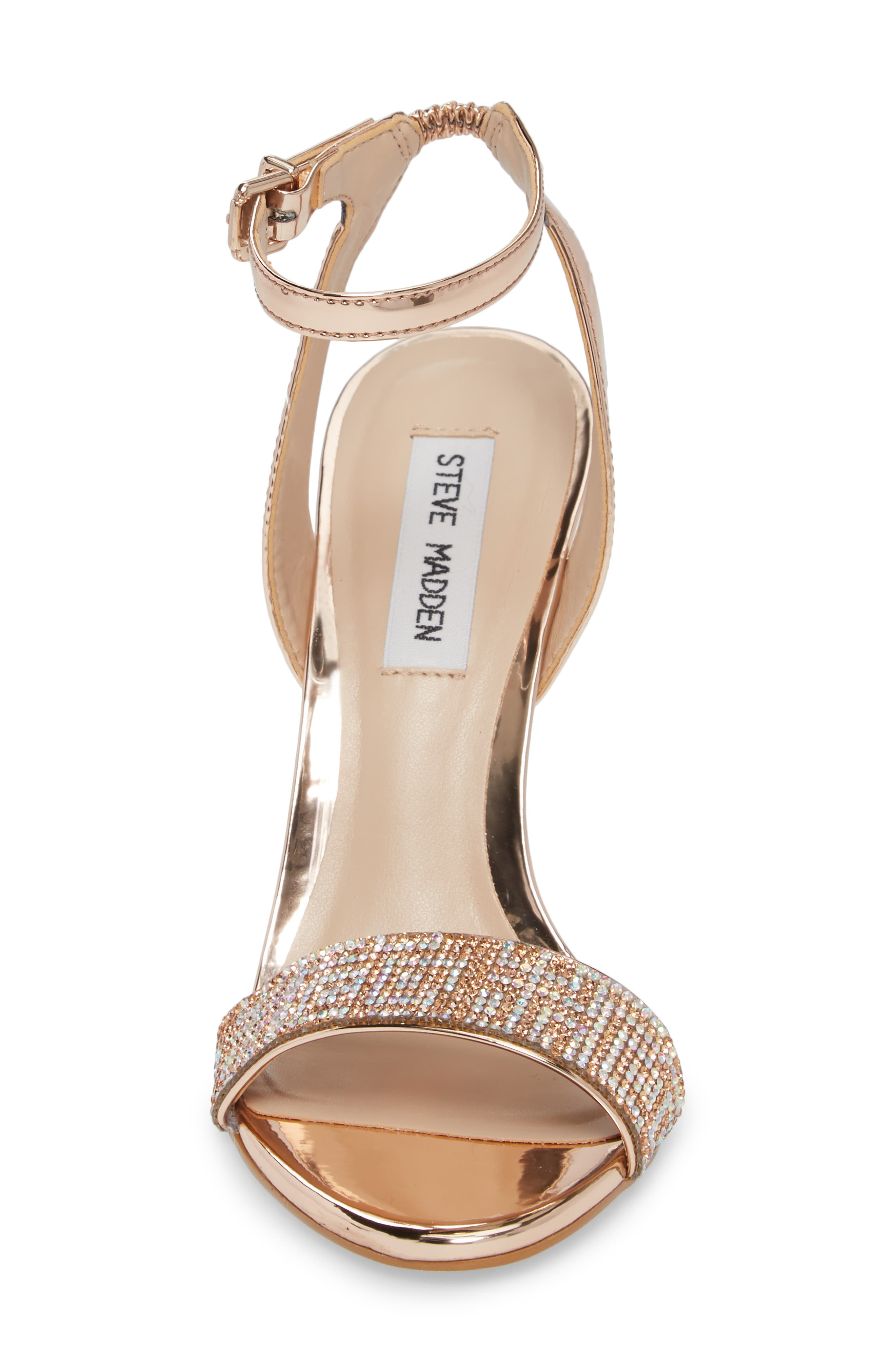 Leona Sandal,                             Alternate thumbnail 4, color,                             Rose Gold Leather