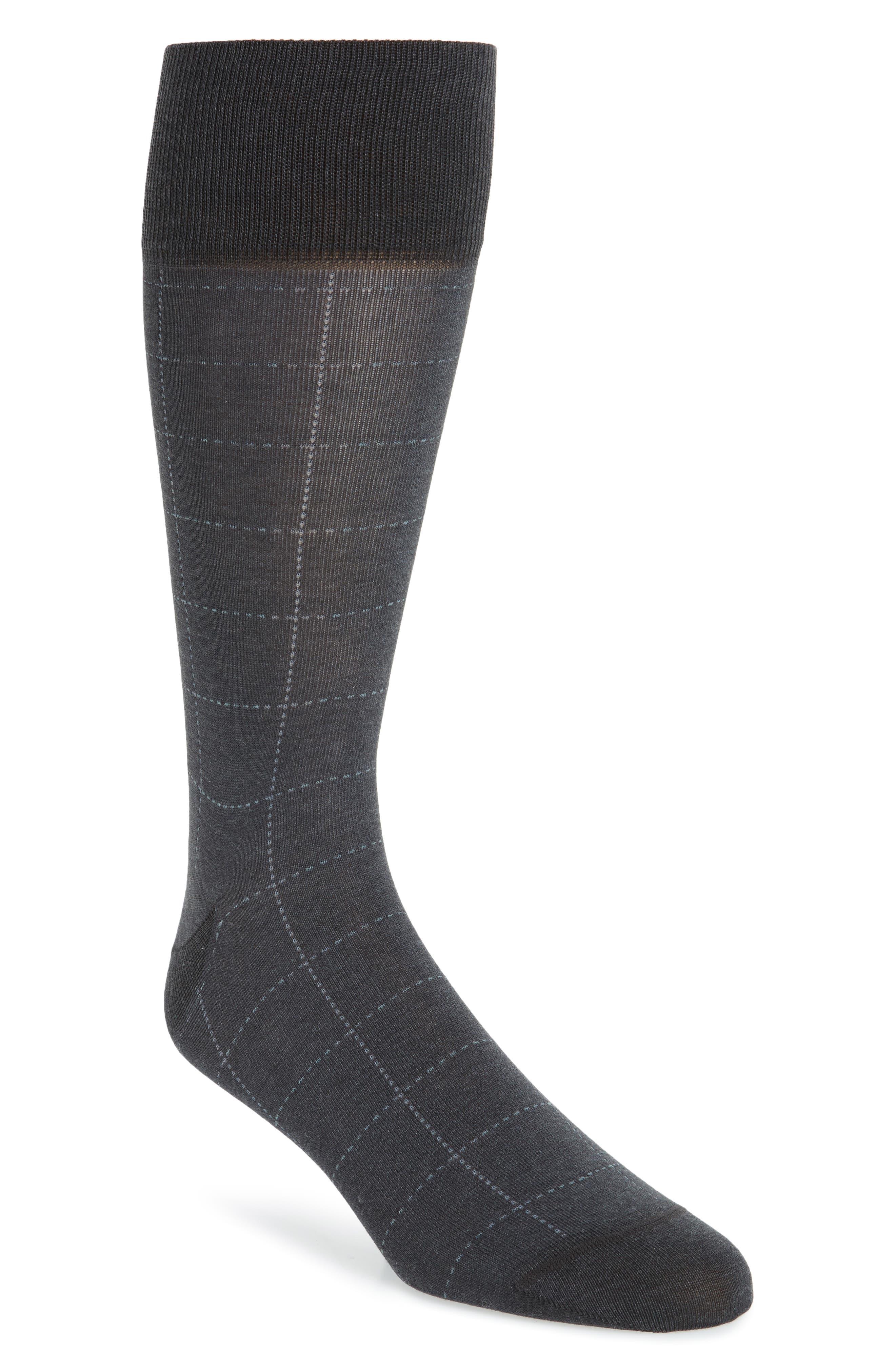 Broken Grid Socks,                             Main thumbnail 1, color,                             Charcoal Heather
