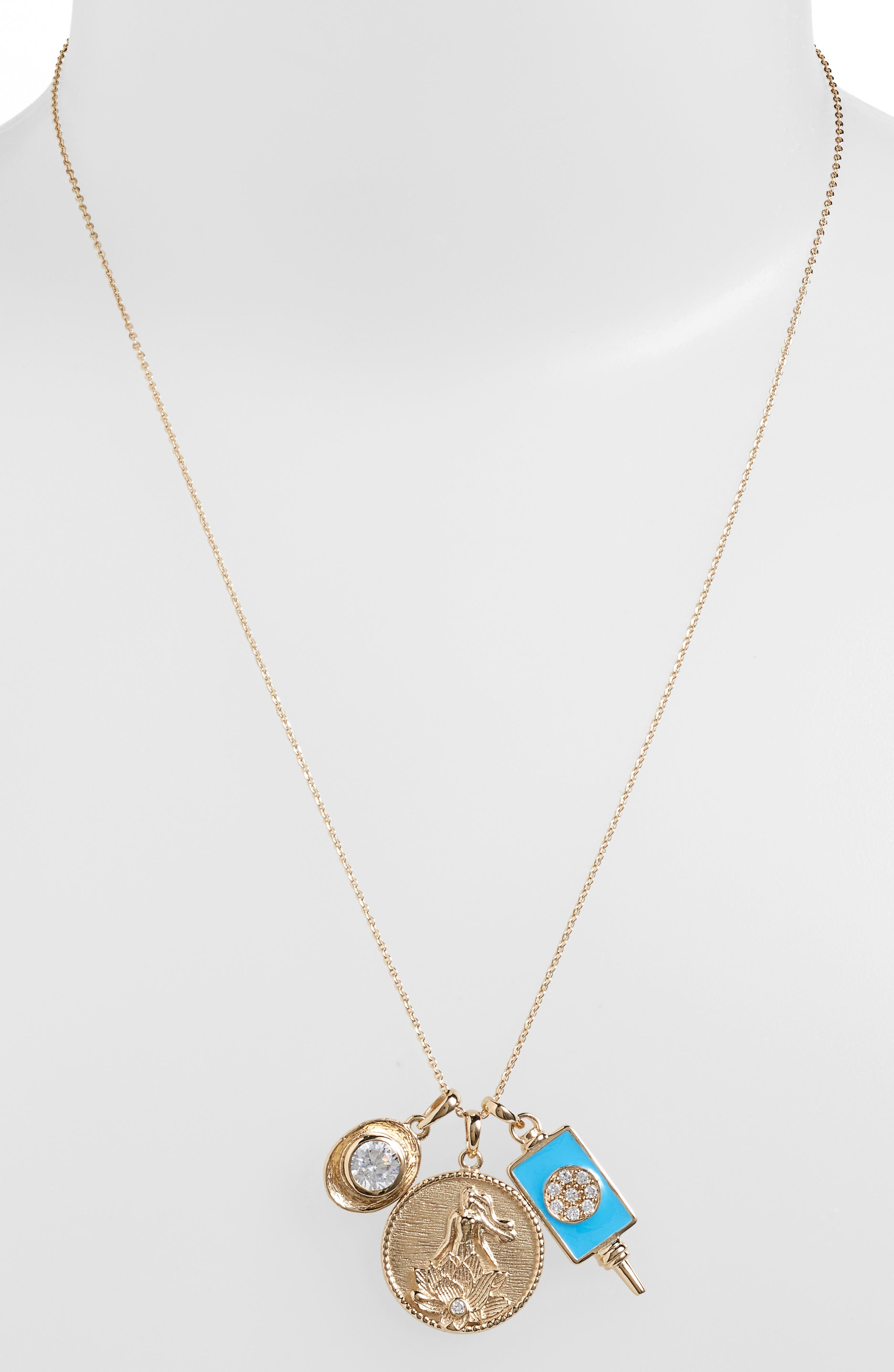 Main Image - Melinda Maria Goddess of Good Fortune Cluster Pendant Necklace