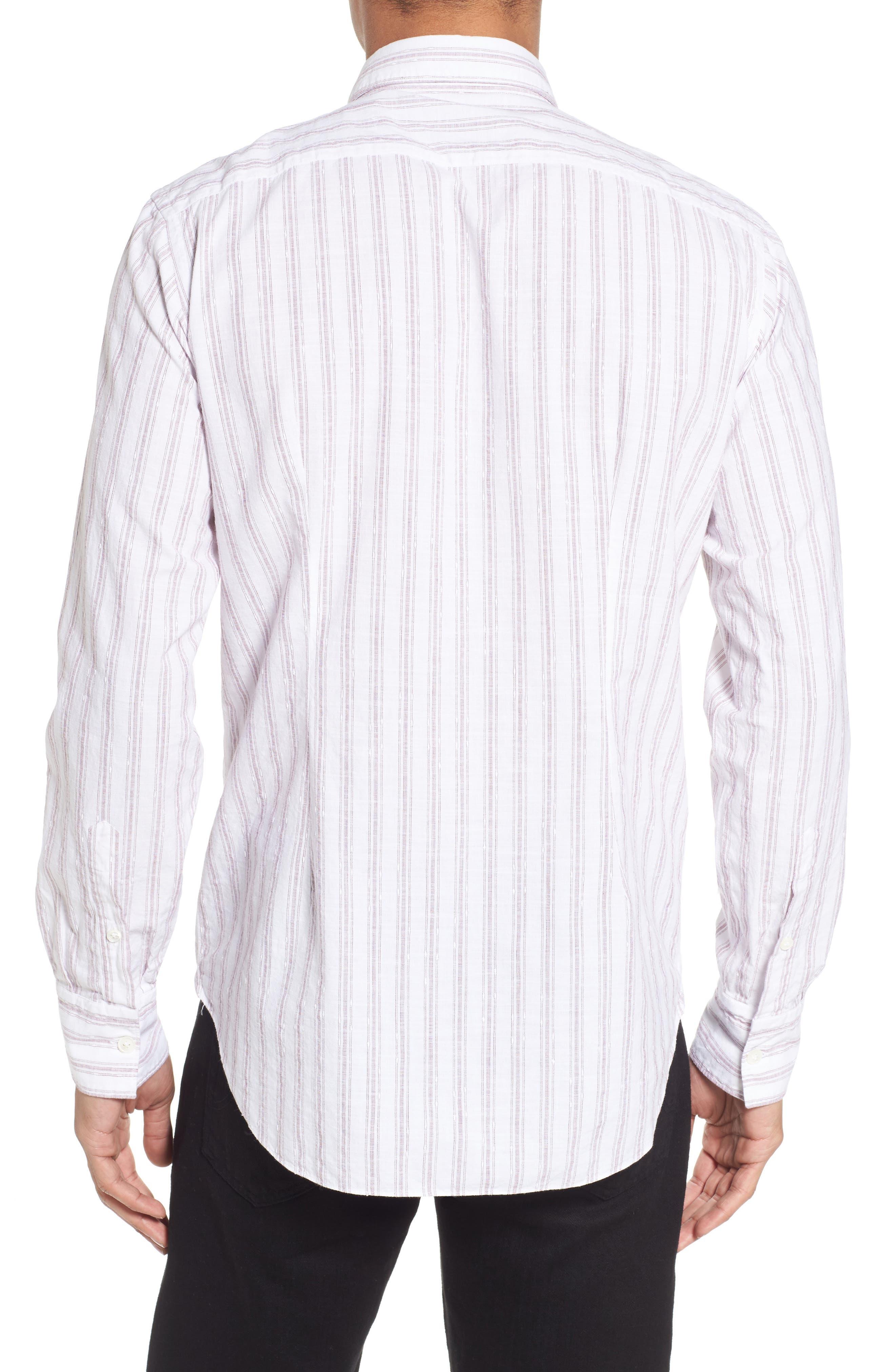 John T Slim Fit Sport Shirt,                             Alternate thumbnail 2, color,                             Blue/ Nat