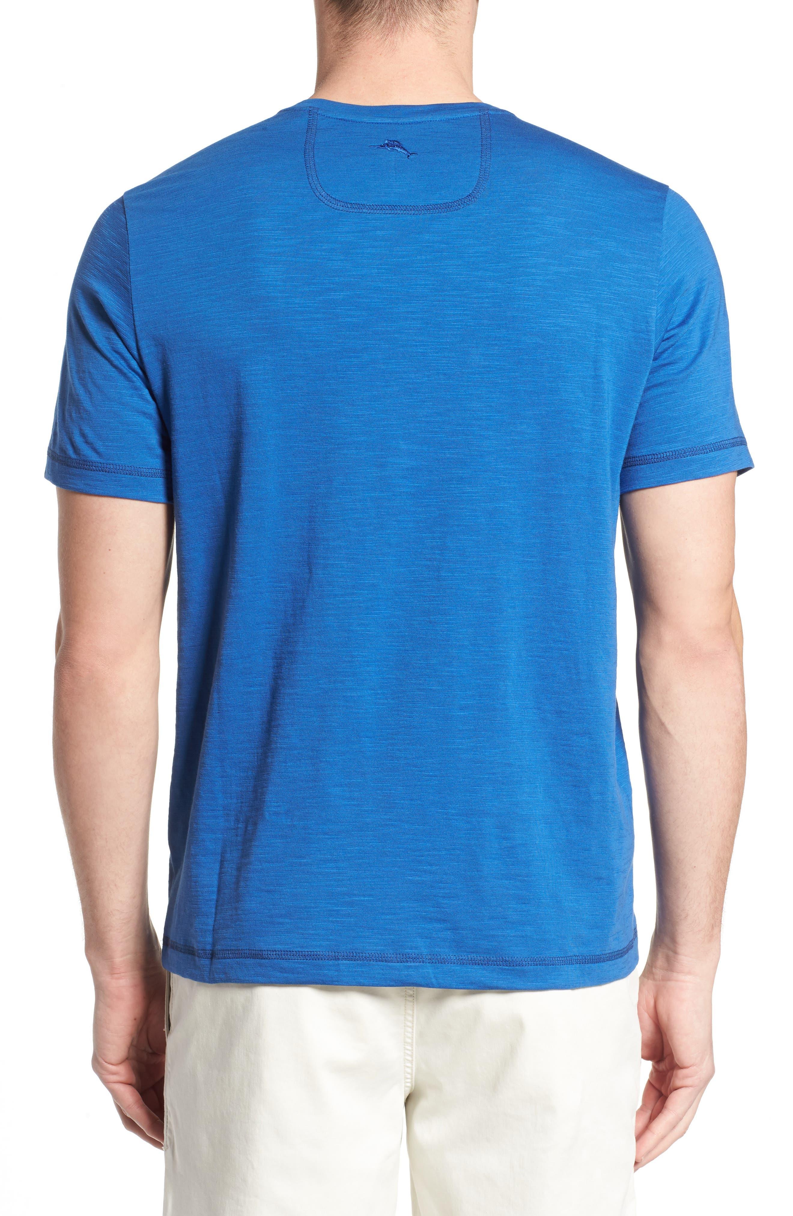 Portside Palms V-Neck T-Shirt,                             Alternate thumbnail 2, color,                             Galaxy Blue