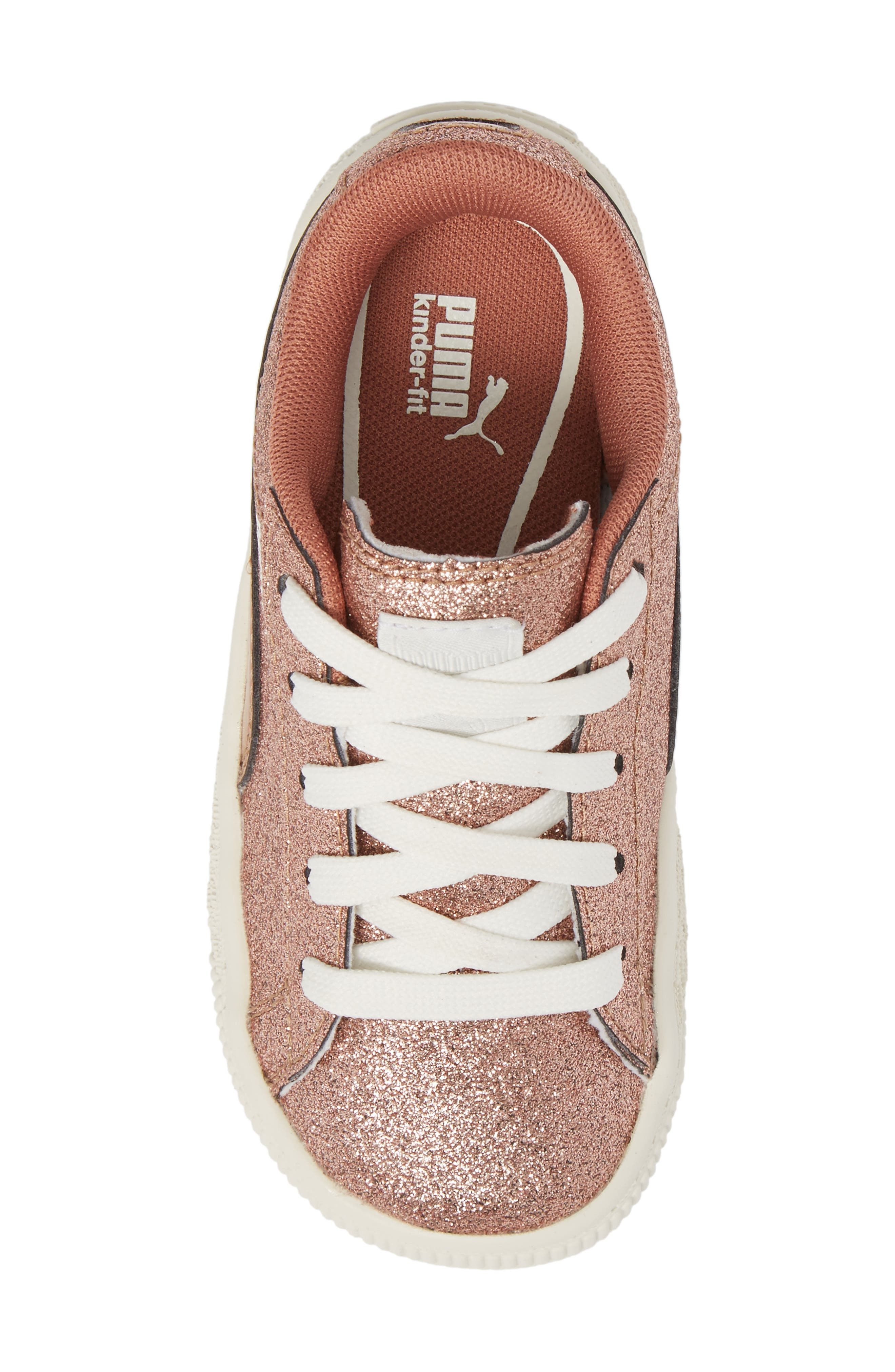 Basket Holiday Glitz Jr. Sneaker,                             Alternate thumbnail 5, color,                             Copper Rose