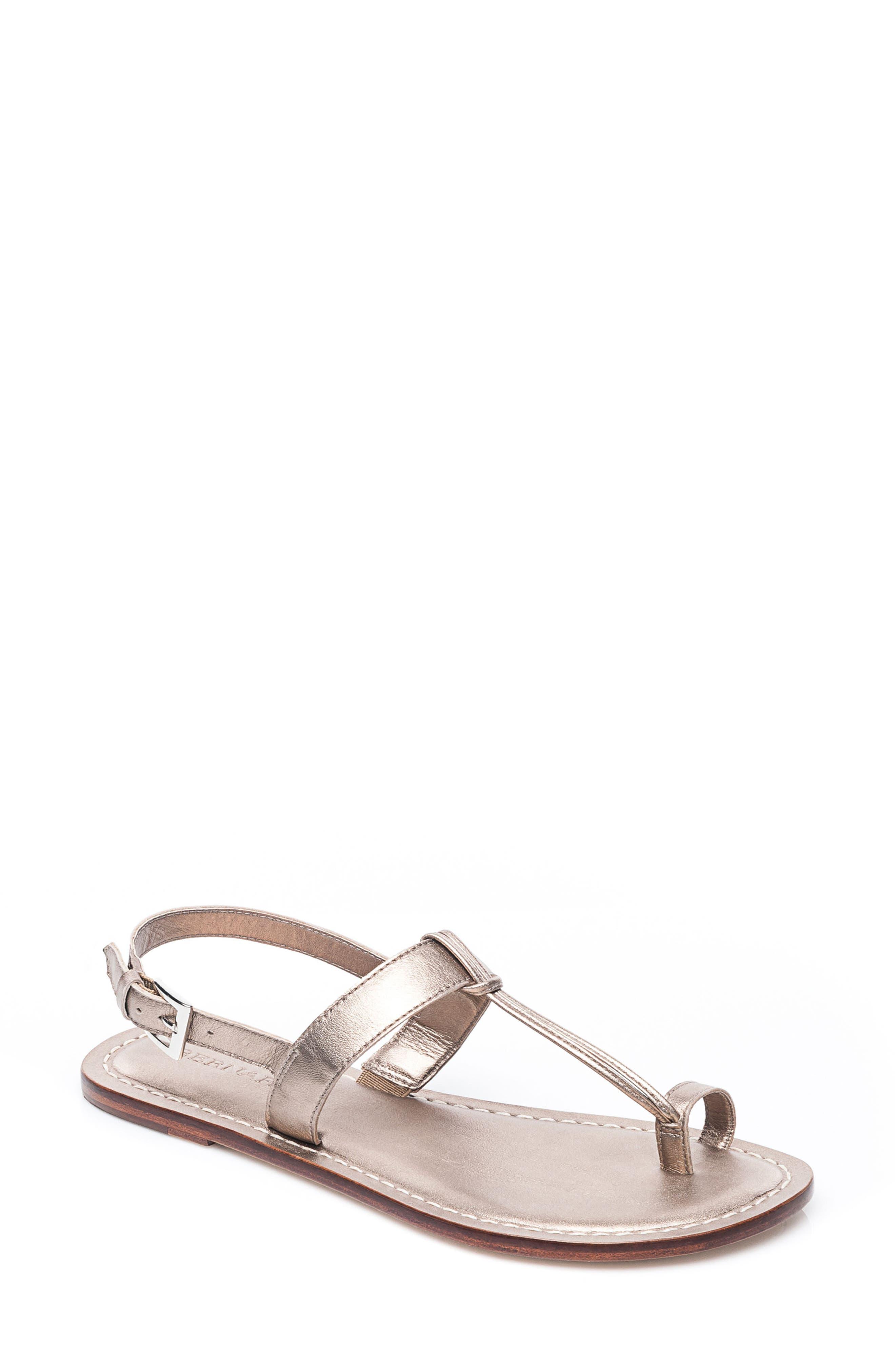 Bernardo Maverick Leather Sandal,                         Main,                         color, Platinum Leather