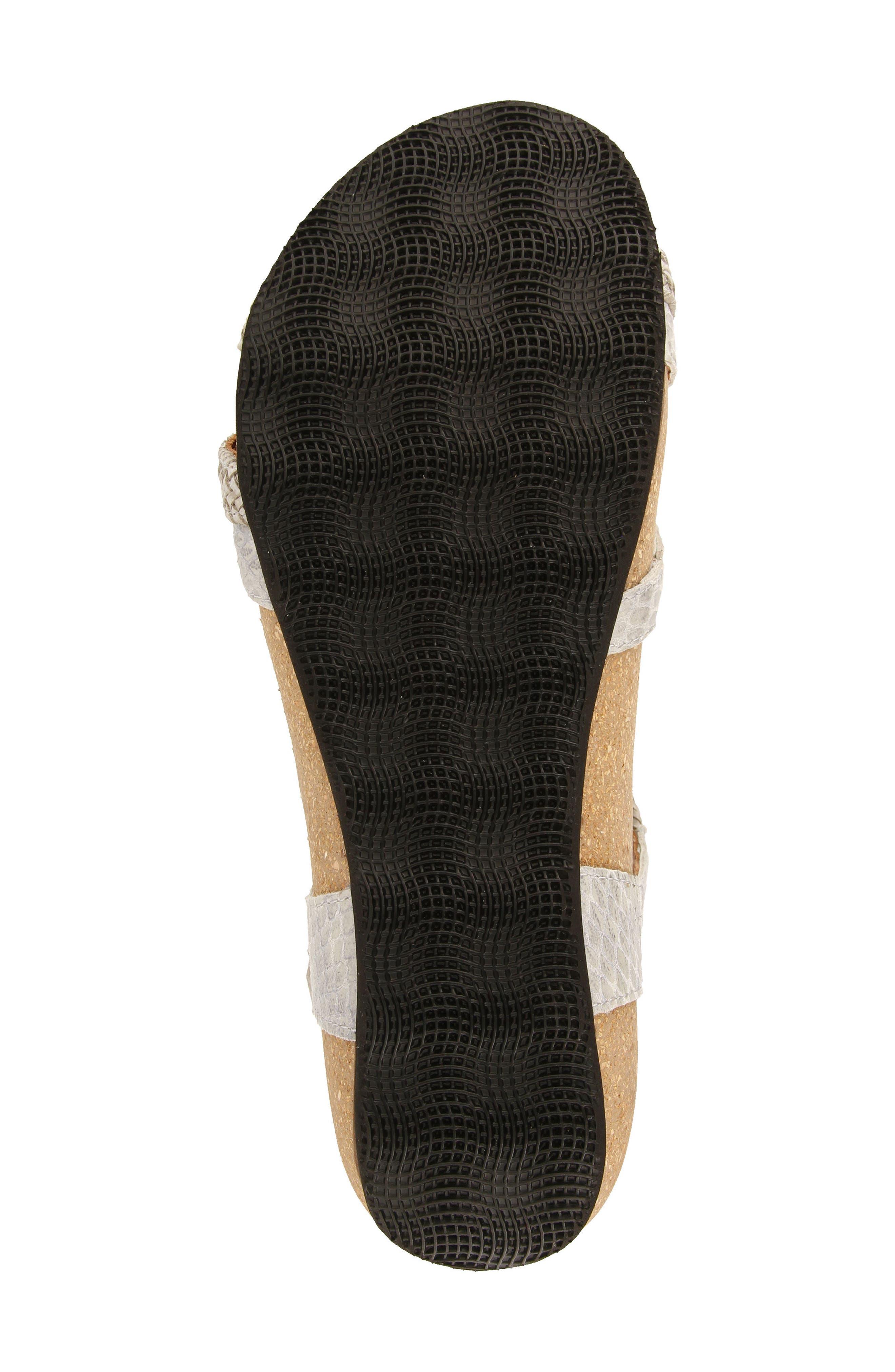 Ziggie Sandal,                             Alternate thumbnail 5, color,                             Ice Snake Leather