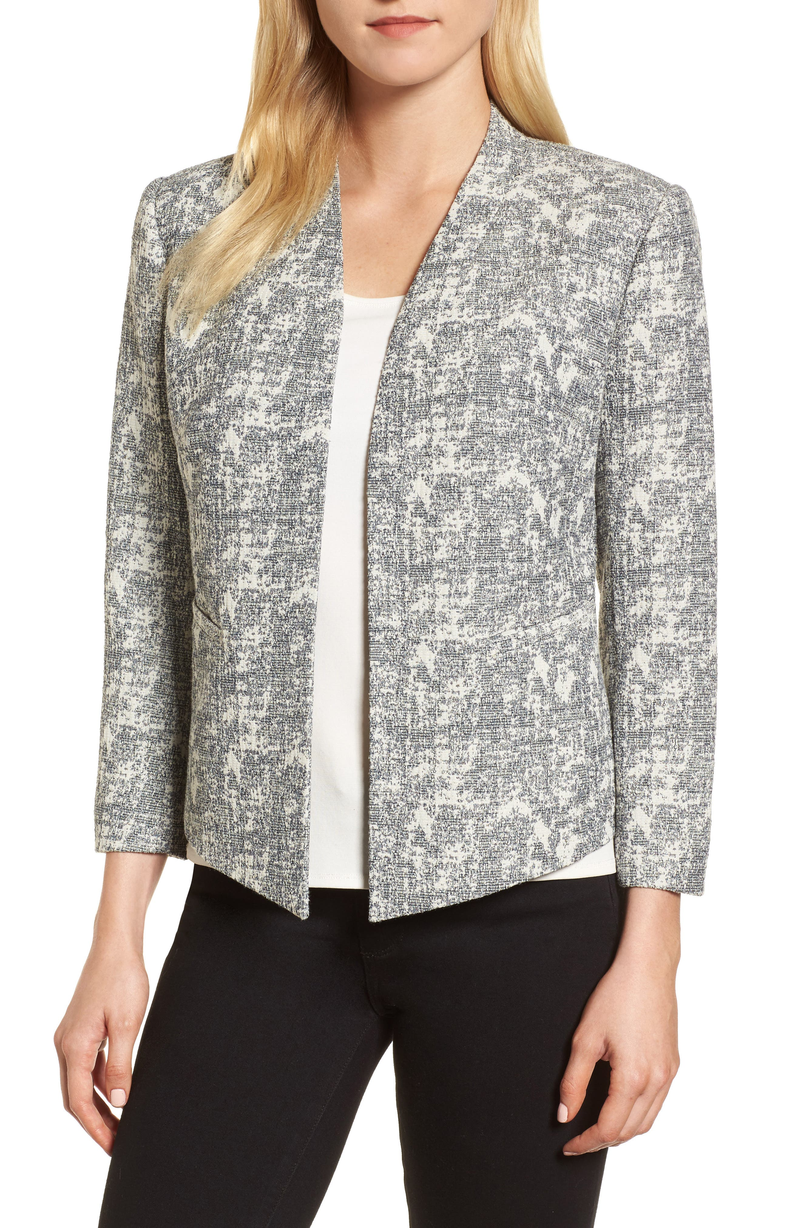 Emerson Rose Open Front Jacquard Jacket