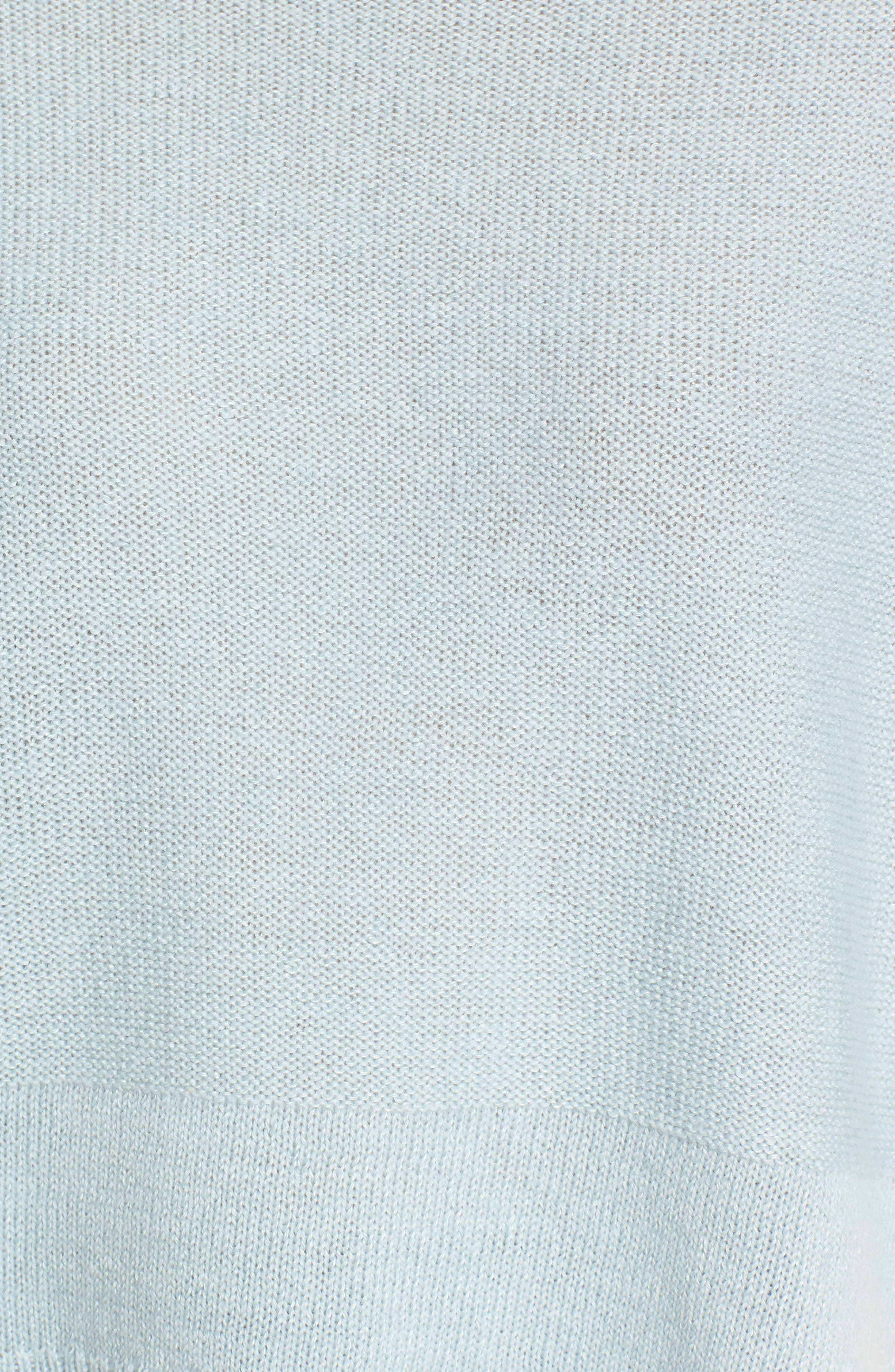 Linen & Cashmere Sweater,                             Alternate thumbnail 5, color,                             Teal Steam