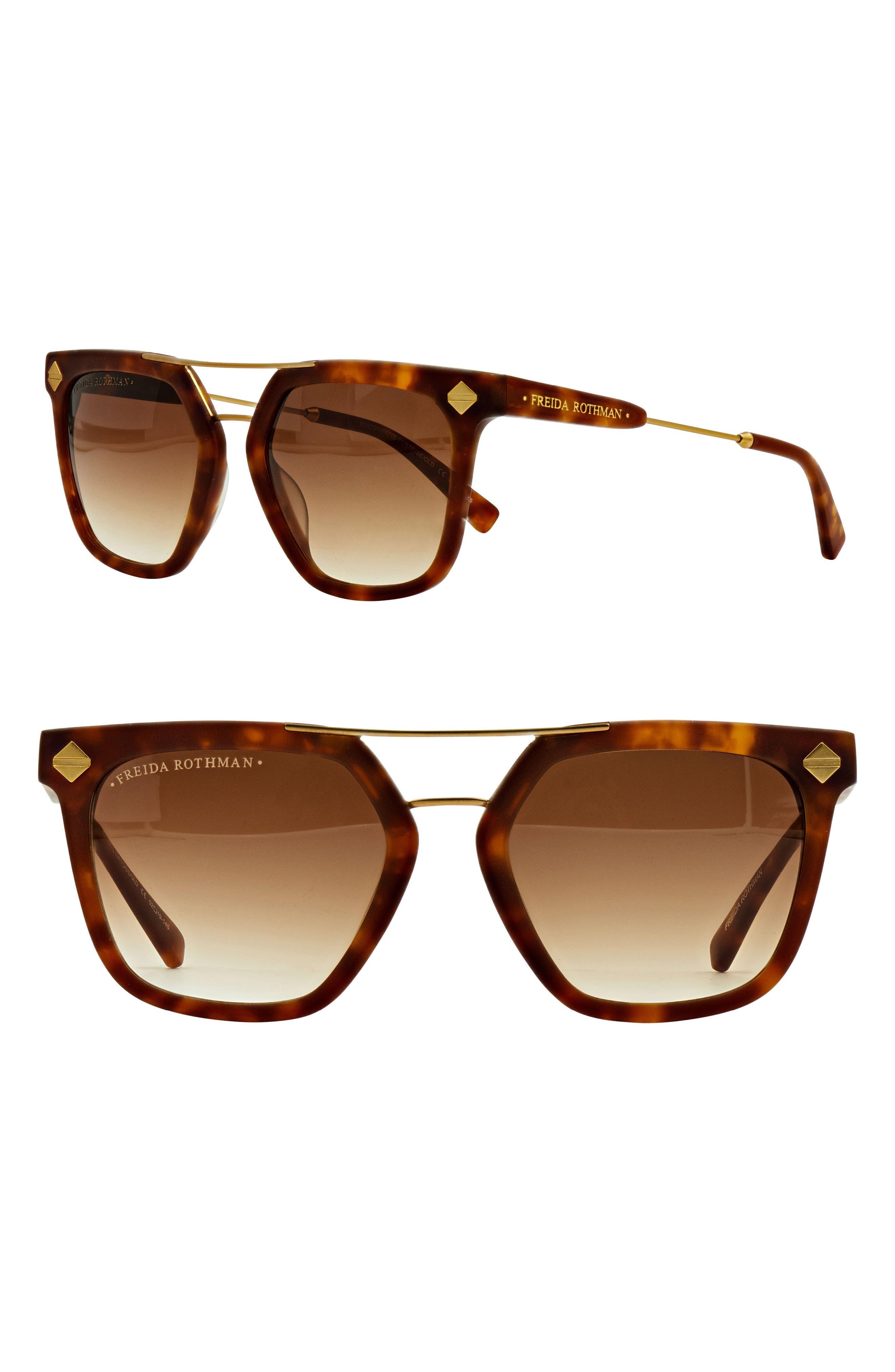 FREIDA ROTHMAN Beacon 52mm Aviator Sunglasses