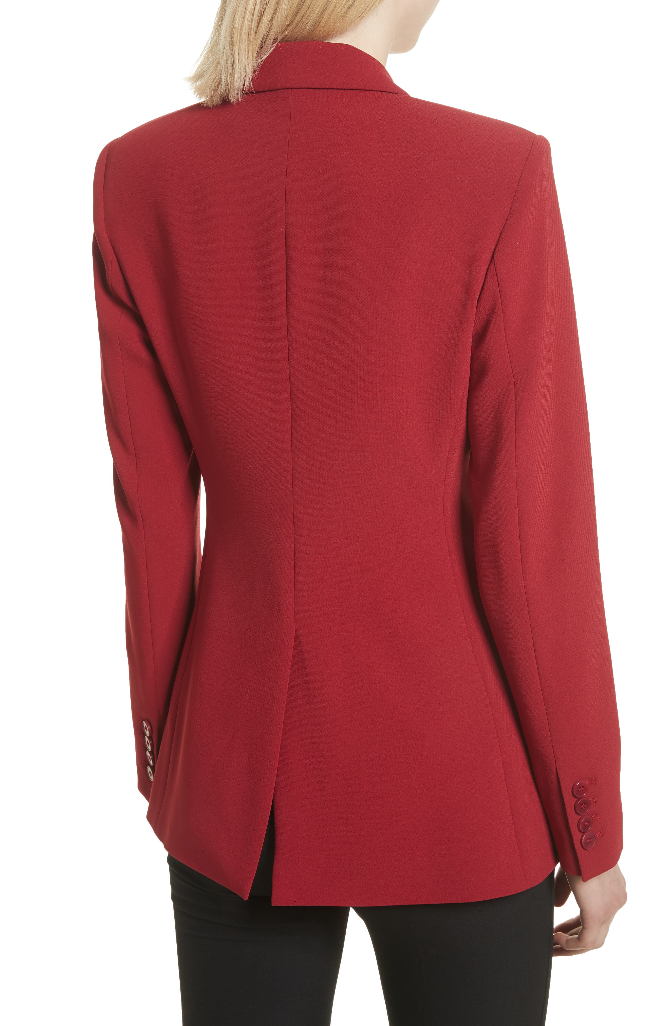 Admiral Crepe Power Jacket,                             Alternate thumbnail 2, color,                             Bright Raspberry