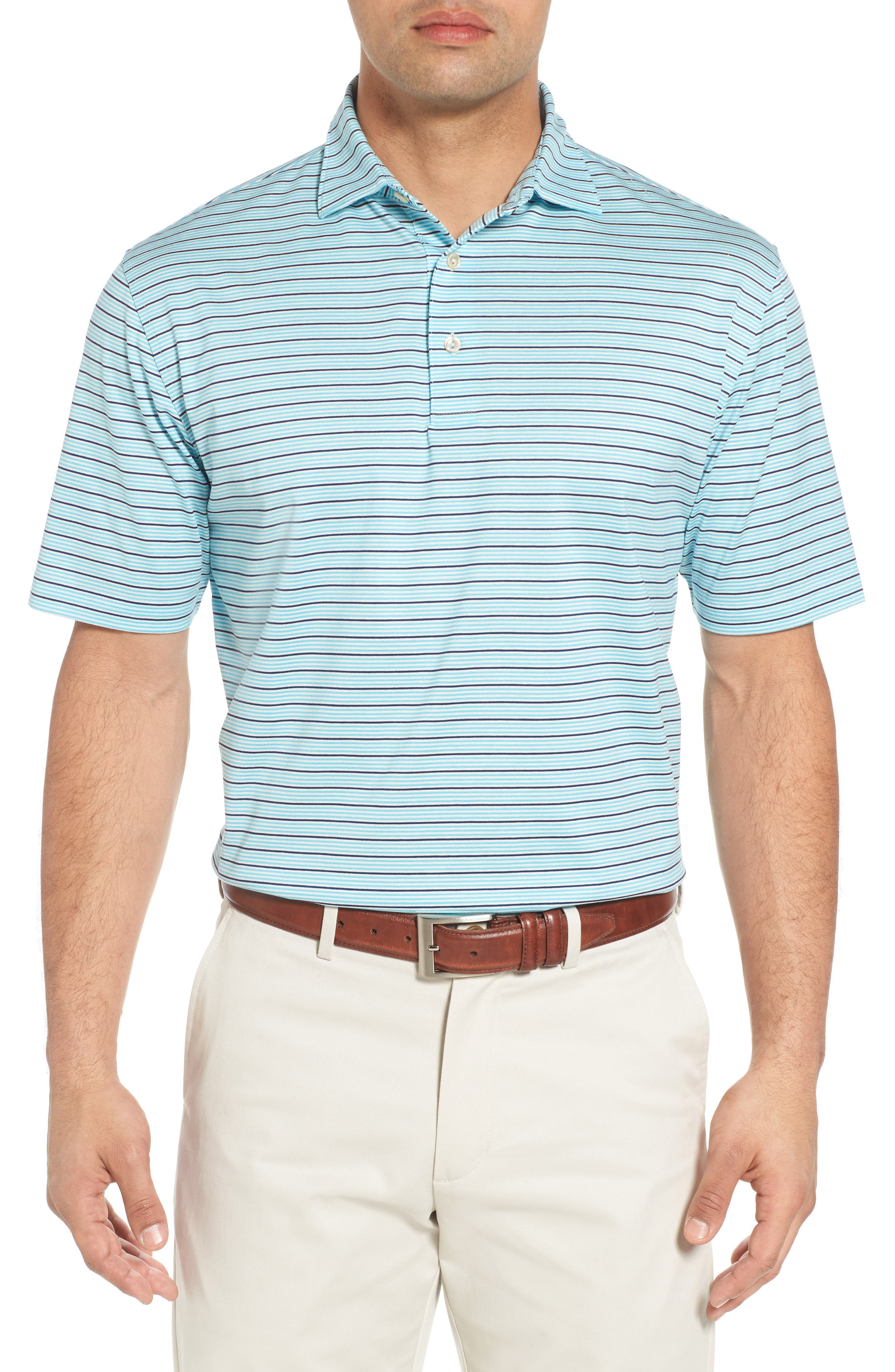Main Image - Peter Millar Grandview Sean Stripe Nanoluxe Polo