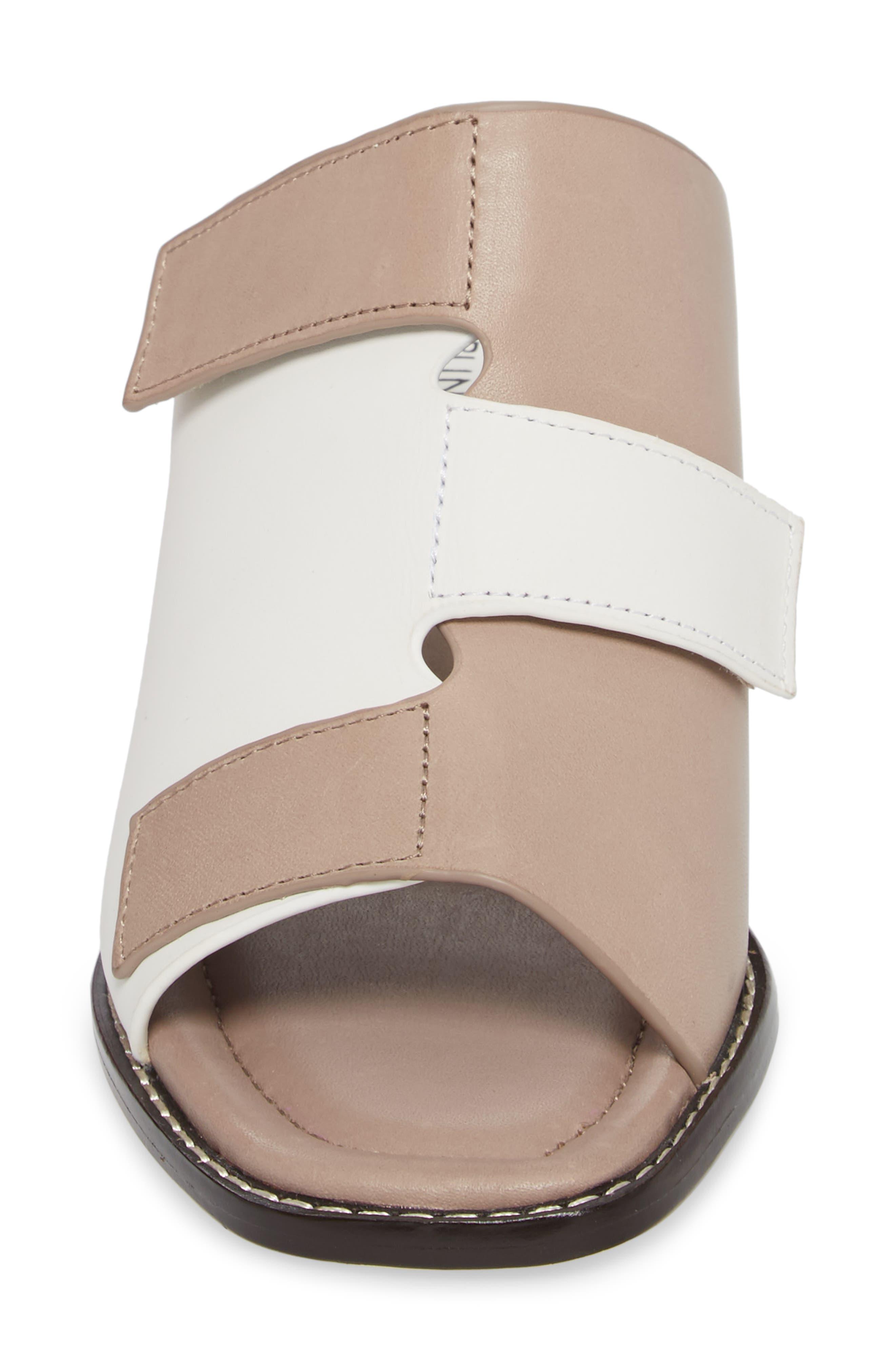 Amalia Block Heel Sandal,                             Alternate thumbnail 4, color,                             Bone Leather