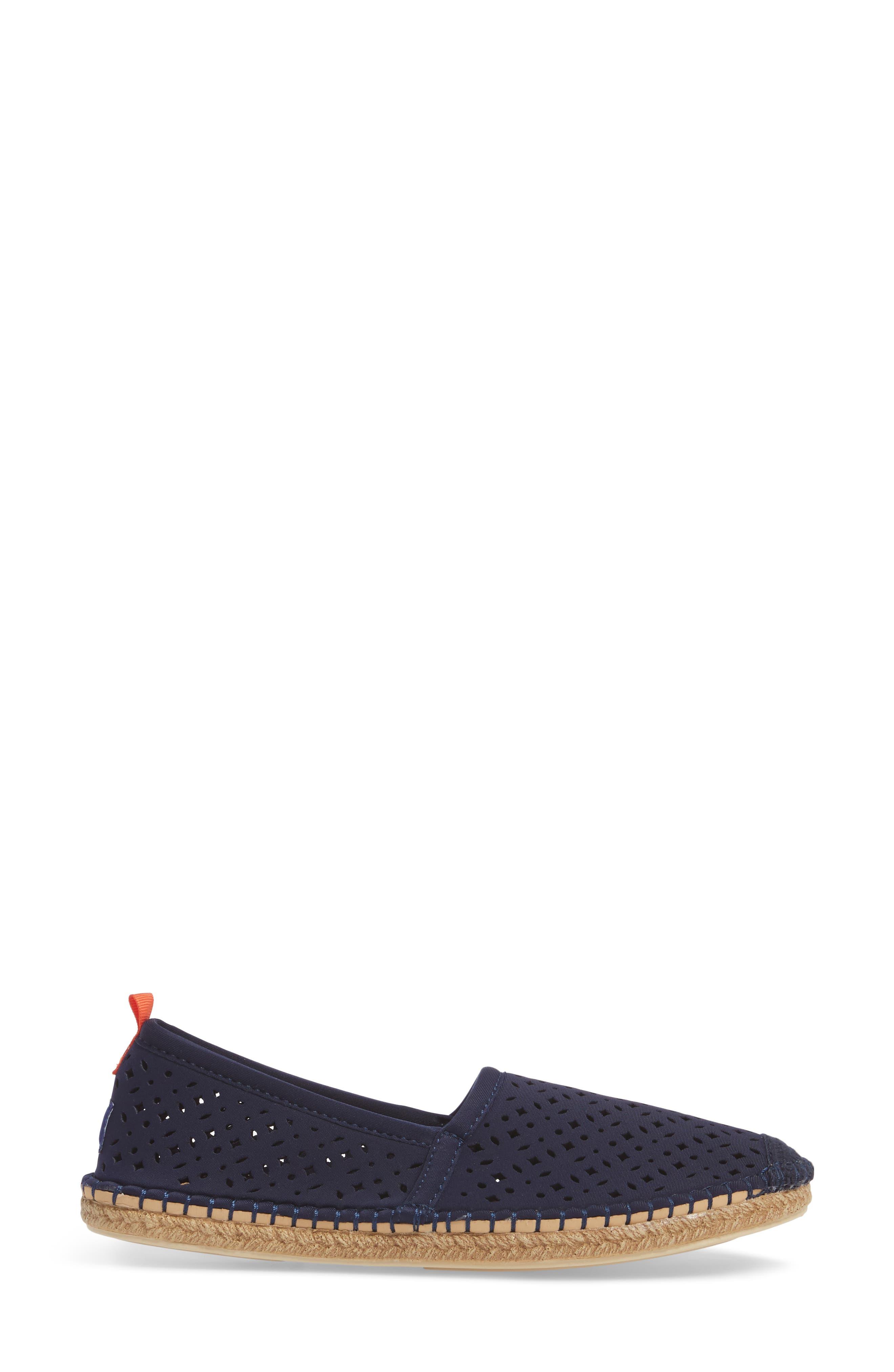 Sea Star Beachcomber Espadrille Sandal,                             Alternate thumbnail 3, color,                             Dark Navy Eyelet