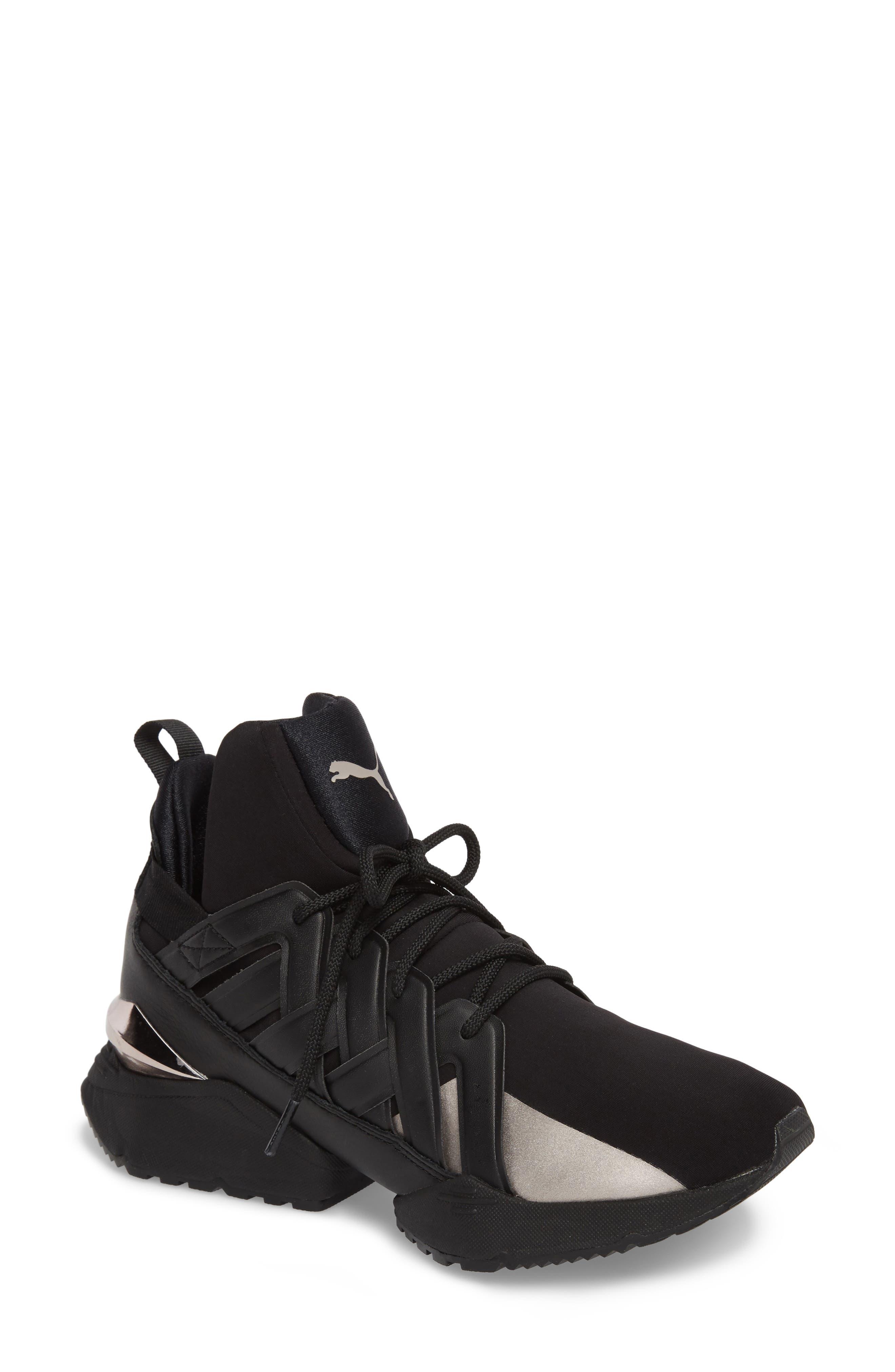 Muse Echo Sneaker,                             Main thumbnail 1, color,                             Puma Black