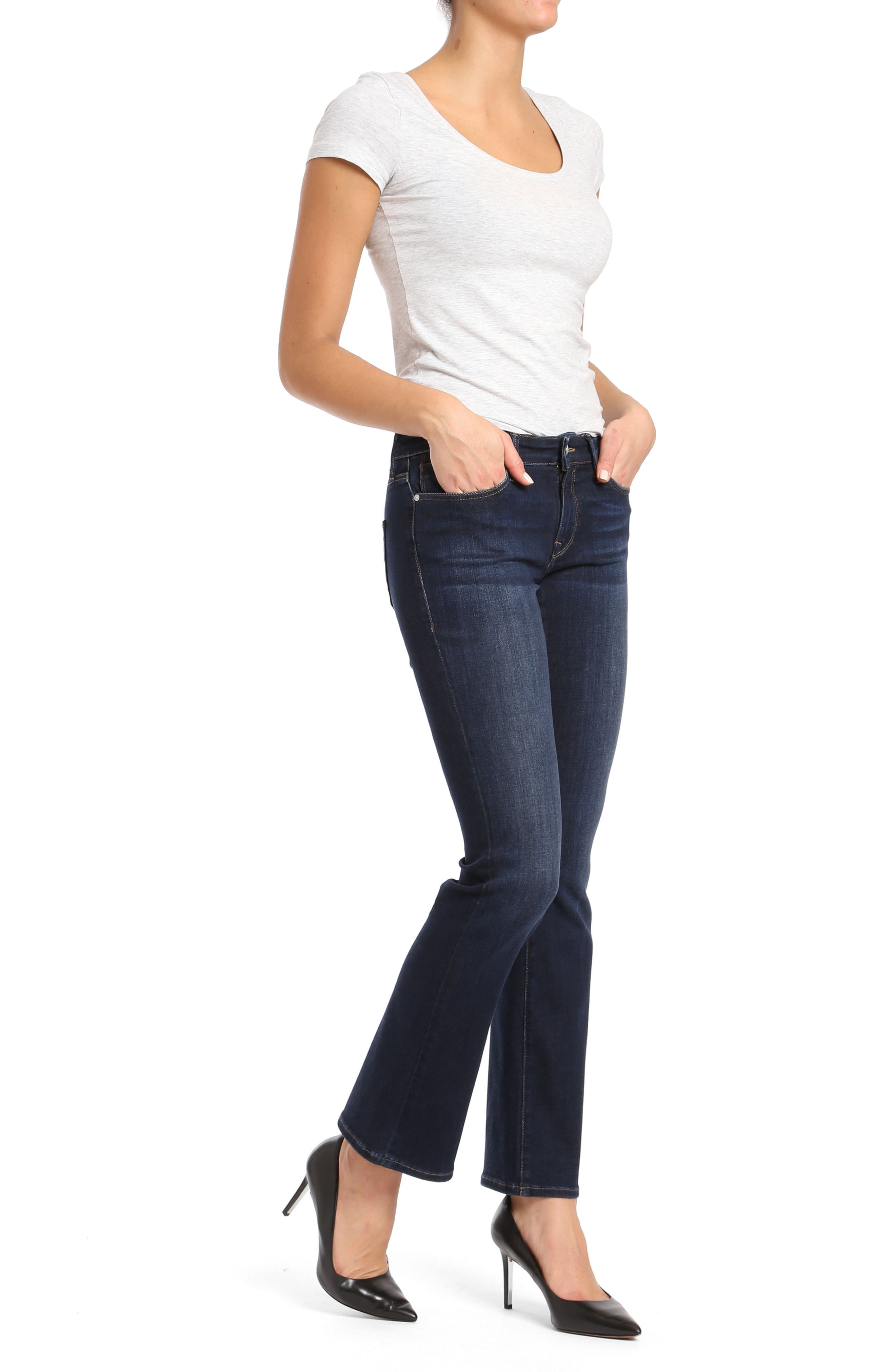 Molly Classic Bootcuts Jeans,                             Alternate thumbnail 4, color,                             Deep Super Soft