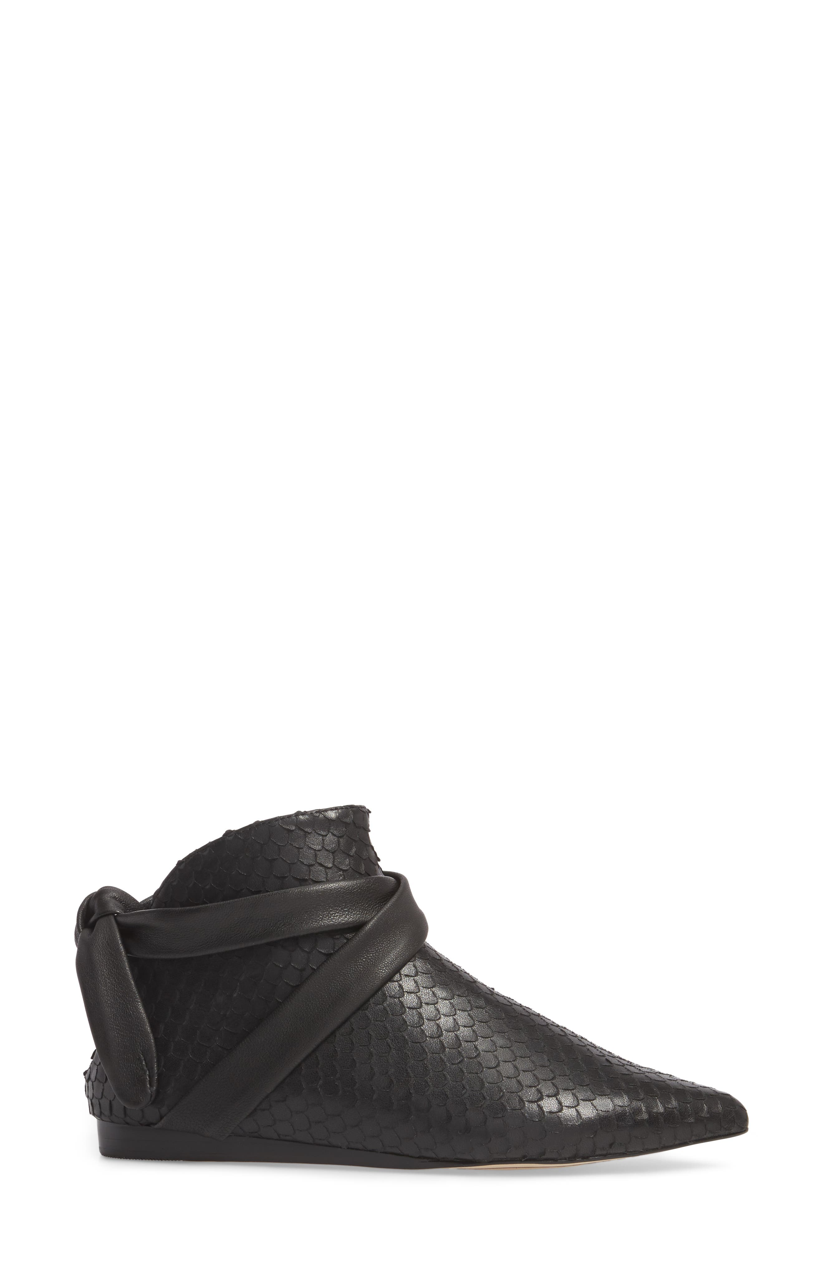 M4D3 Derby Bootie,                             Alternate thumbnail 3, color,                             Black Leather