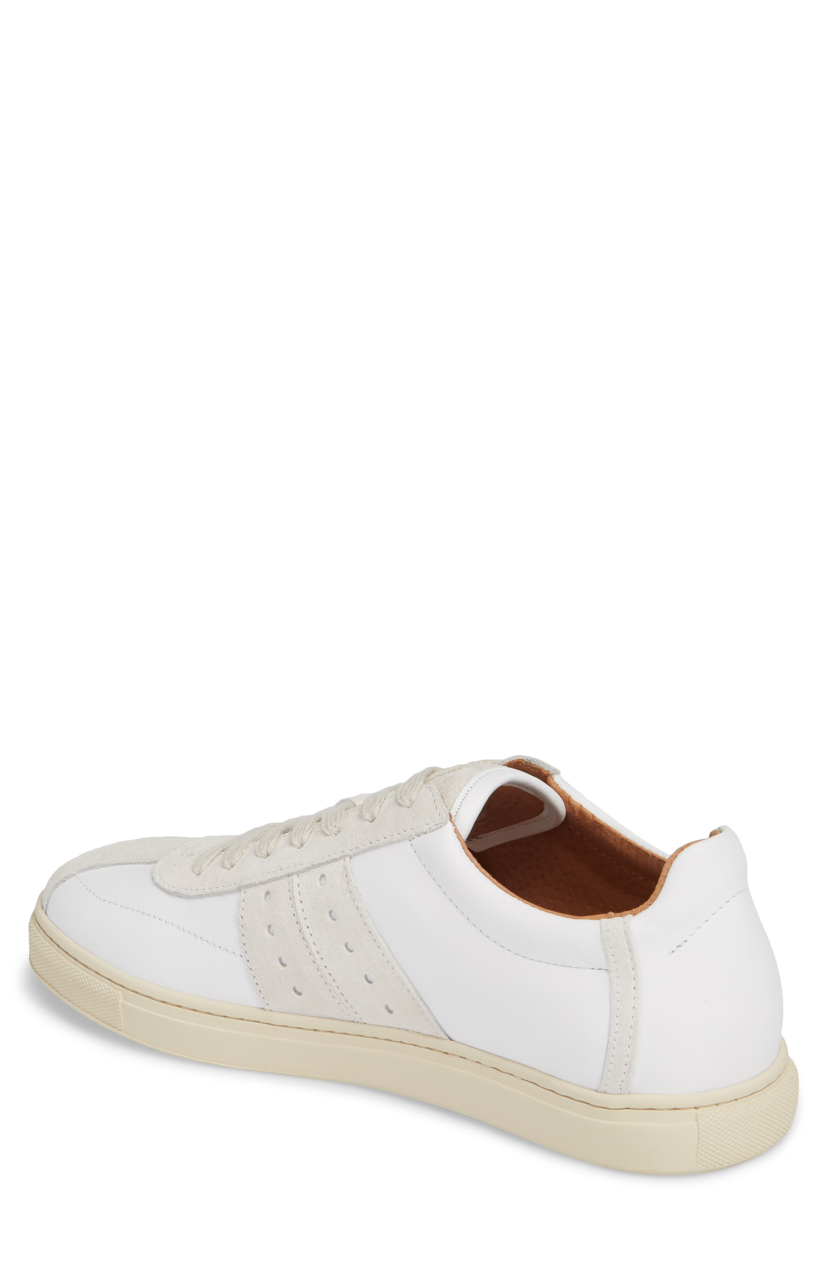 Duran New Mix Sneaker,                             Alternate thumbnail 2, color,                             White Leather/ Suede