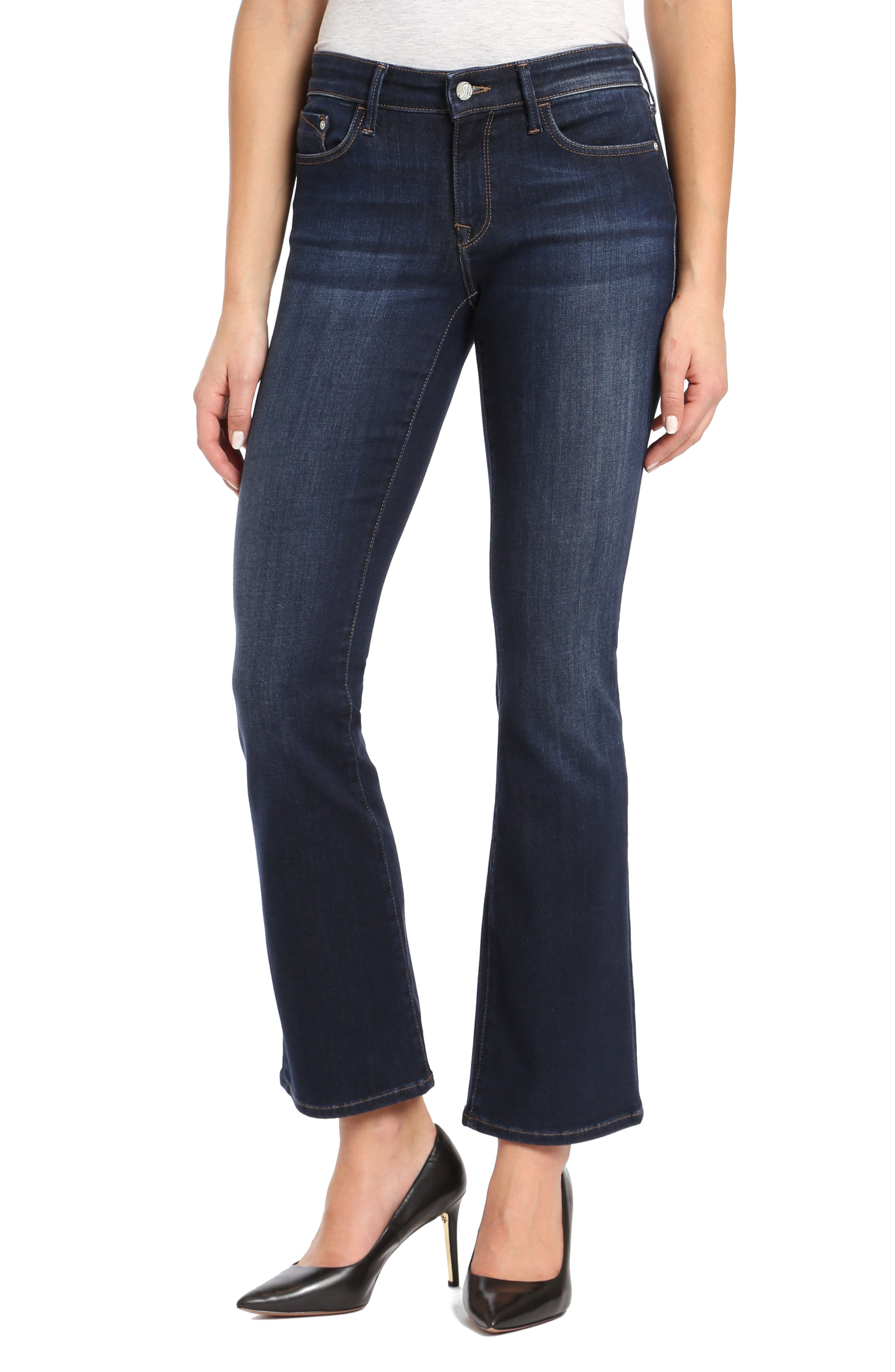 Molly Classic Bootcuts Jeans,                         Main,                         color, Deep Super Soft
