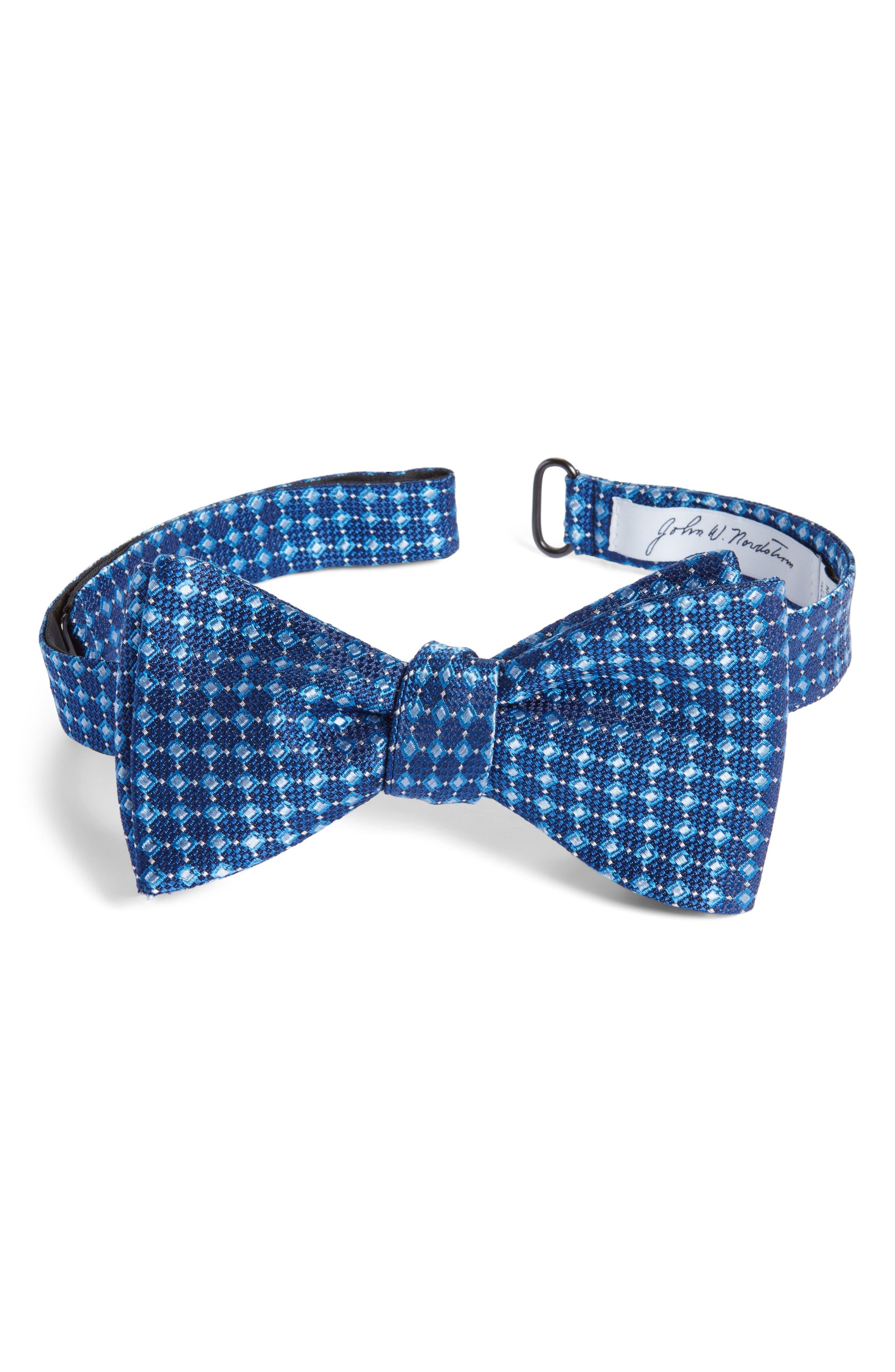 Nordstrom Men's Shop Jacquard Silk Tie,                             Main thumbnail 1, color,                             Blue