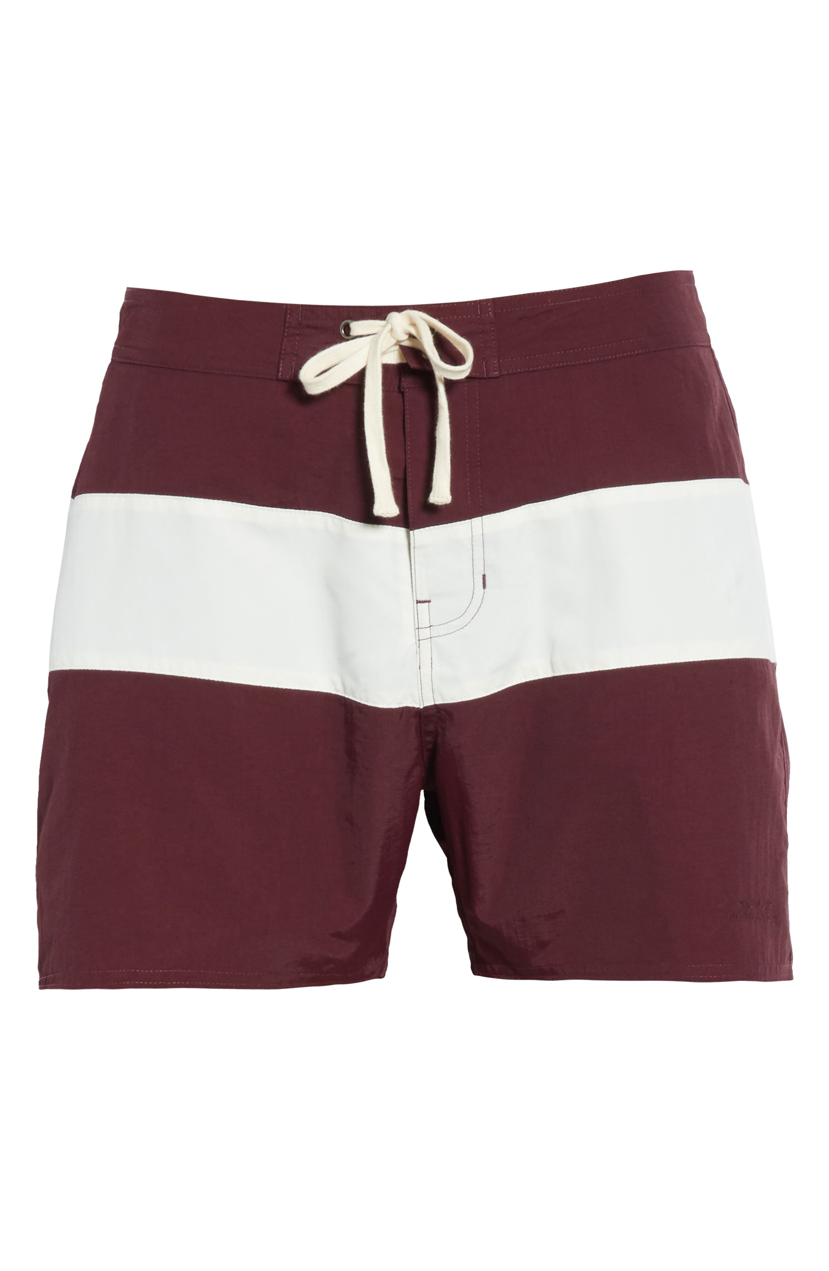 Grant Board Shorts,                             Alternate thumbnail 6, color,                             Dark Mauve/Ivory