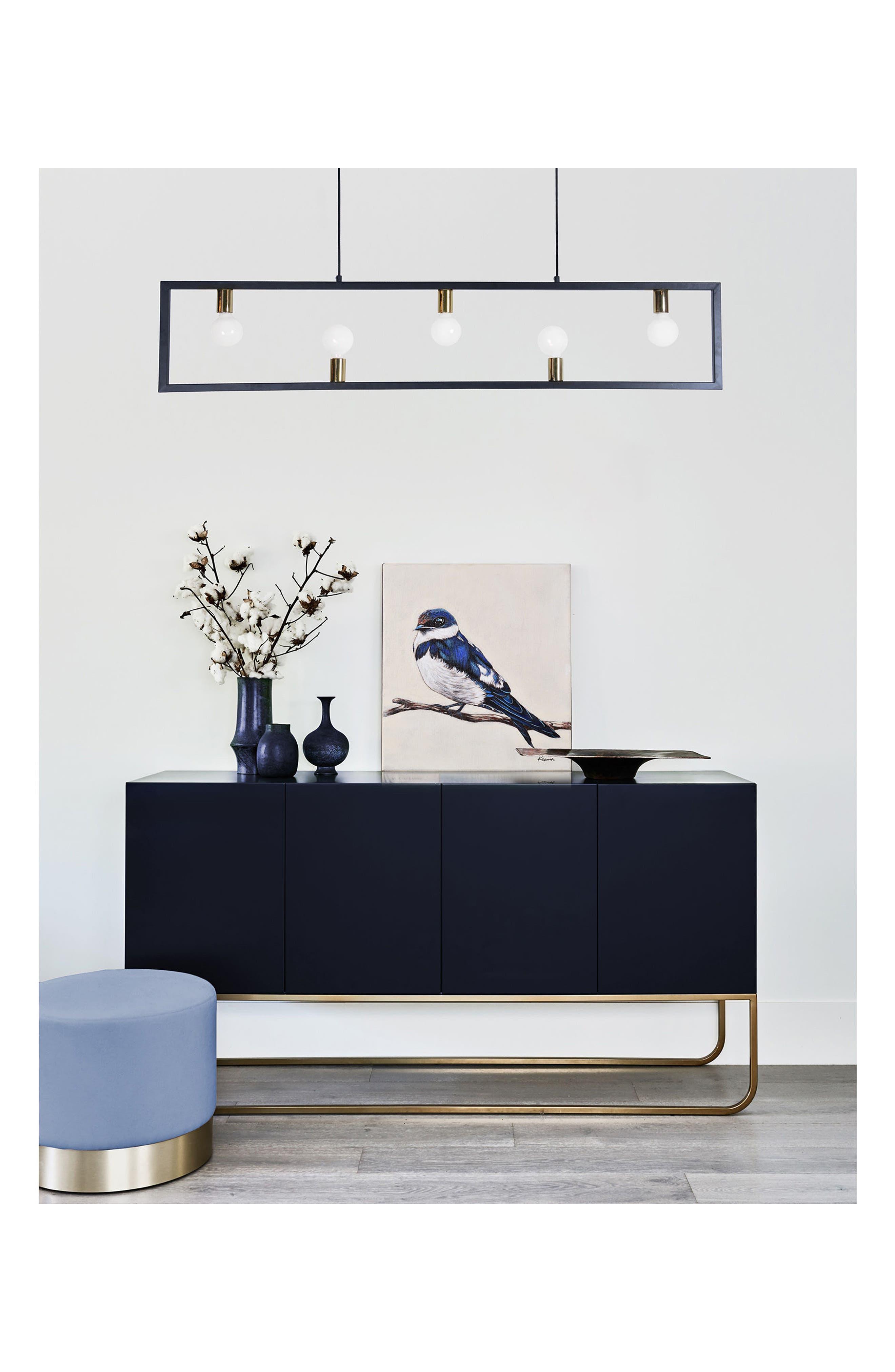 Vera Ceiling Light Fixture,                             Alternate thumbnail 2, color,                             Matte Black/ Polished Brass
