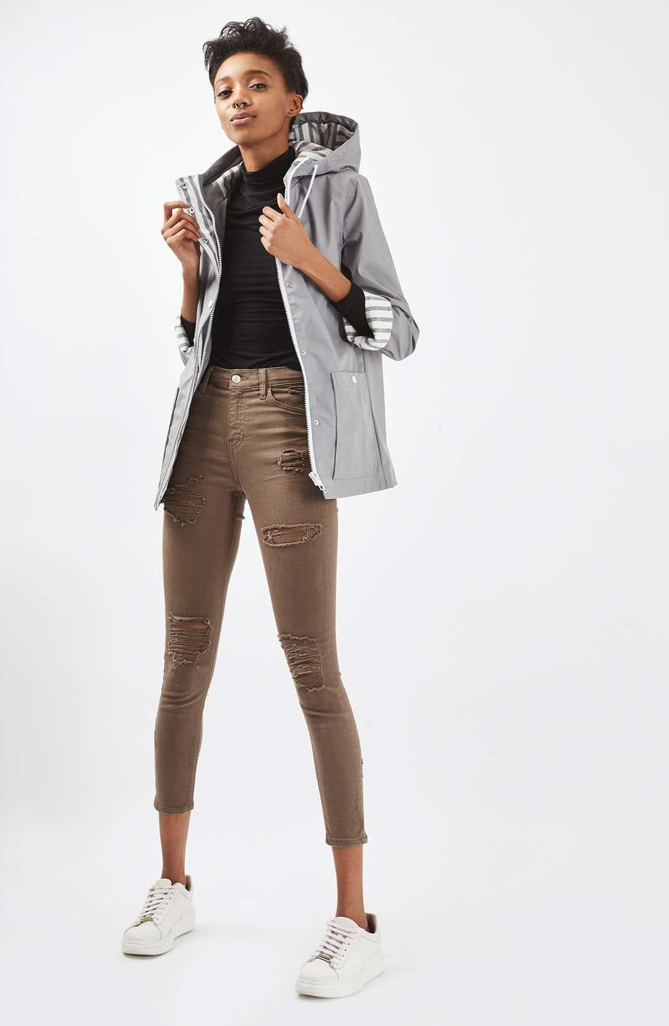 Maisie Rain Jacket,                             Alternate thumbnail 2, color,                             Grey Multi