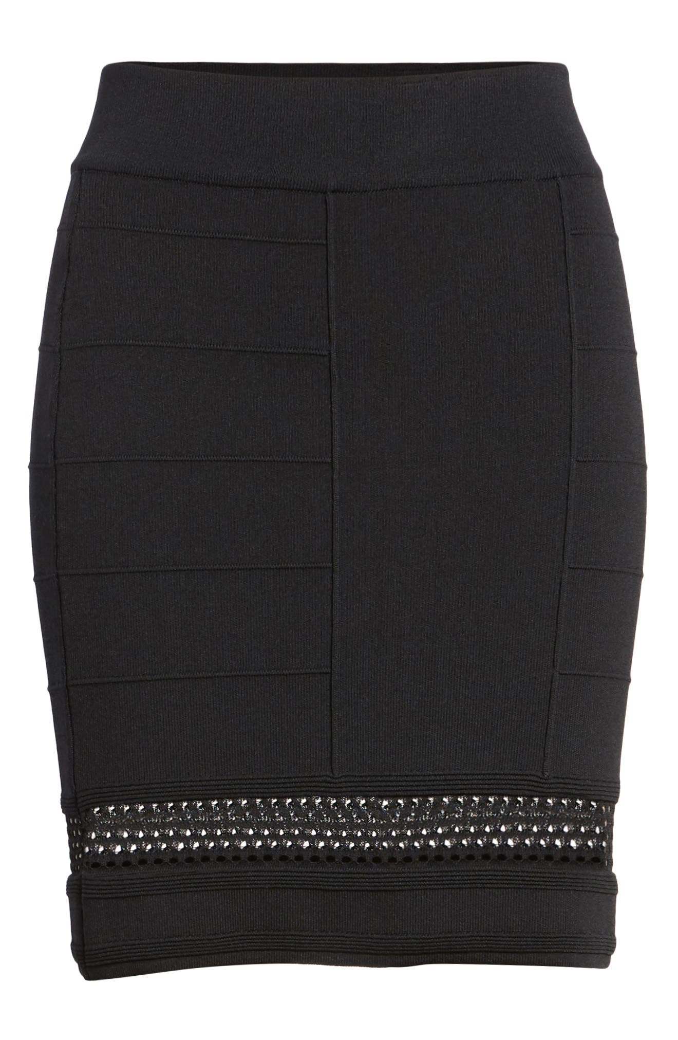 Bishop + Young Siena Peekaboo Skirt,                             Alternate thumbnail 6, color,                             Black