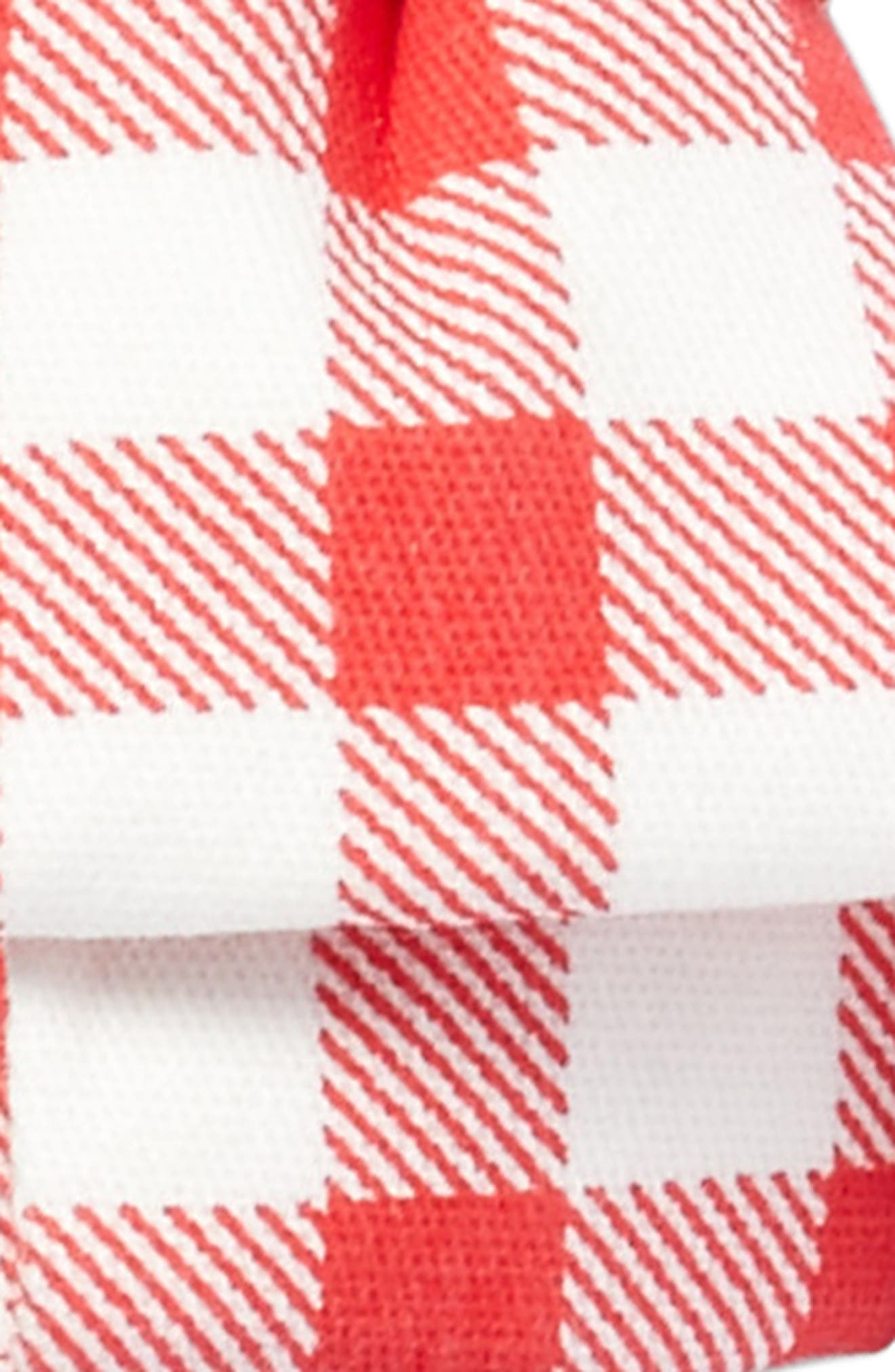 Gingham Bow Headband,                             Alternate thumbnail 2, color,                             Red