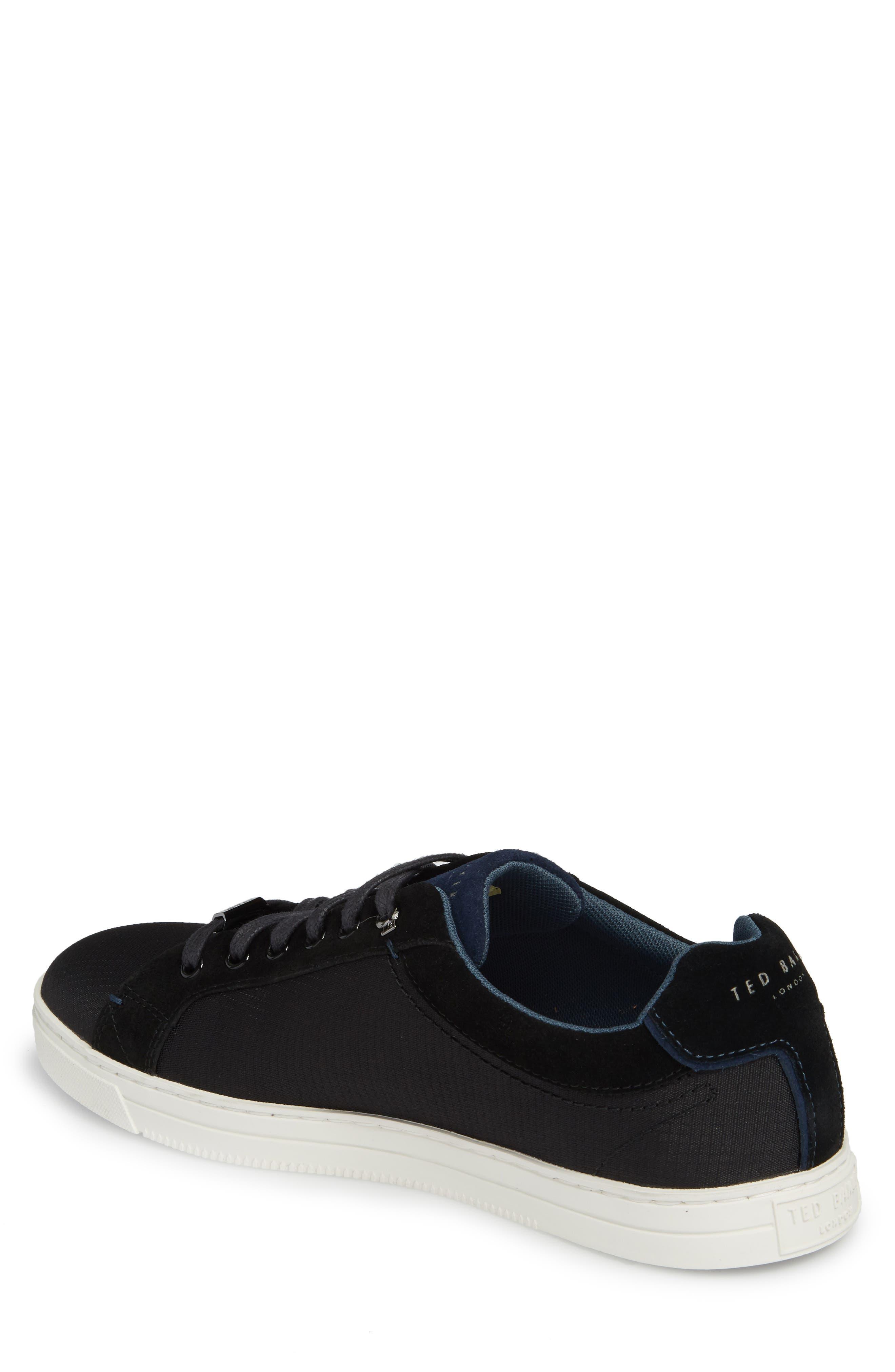 Klemes Sneaker,                             Alternate thumbnail 2, color,                             Black Textile