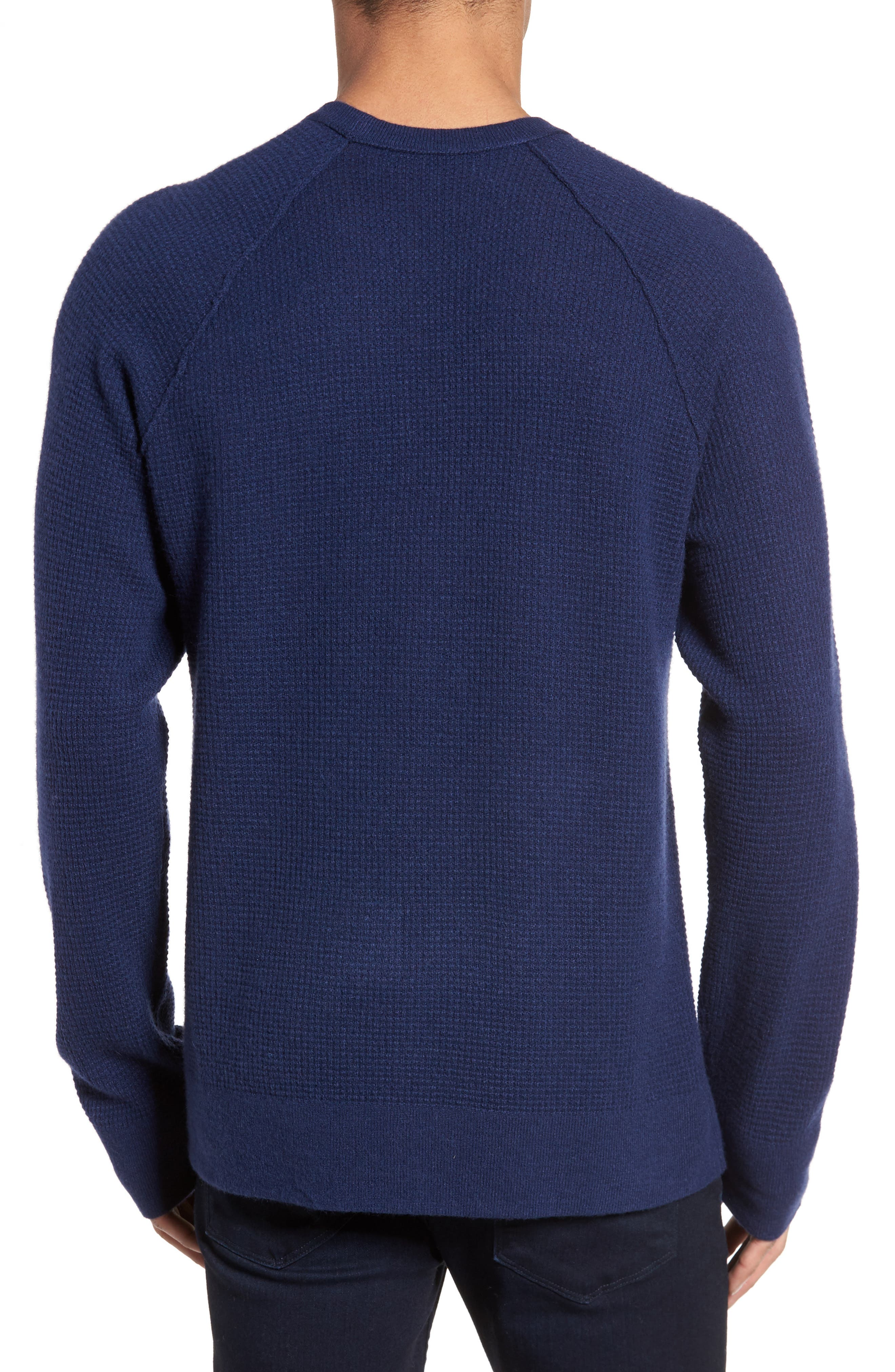 Thermal Cashmere Sweater,                             Alternate thumbnail 2, color,                             Blue