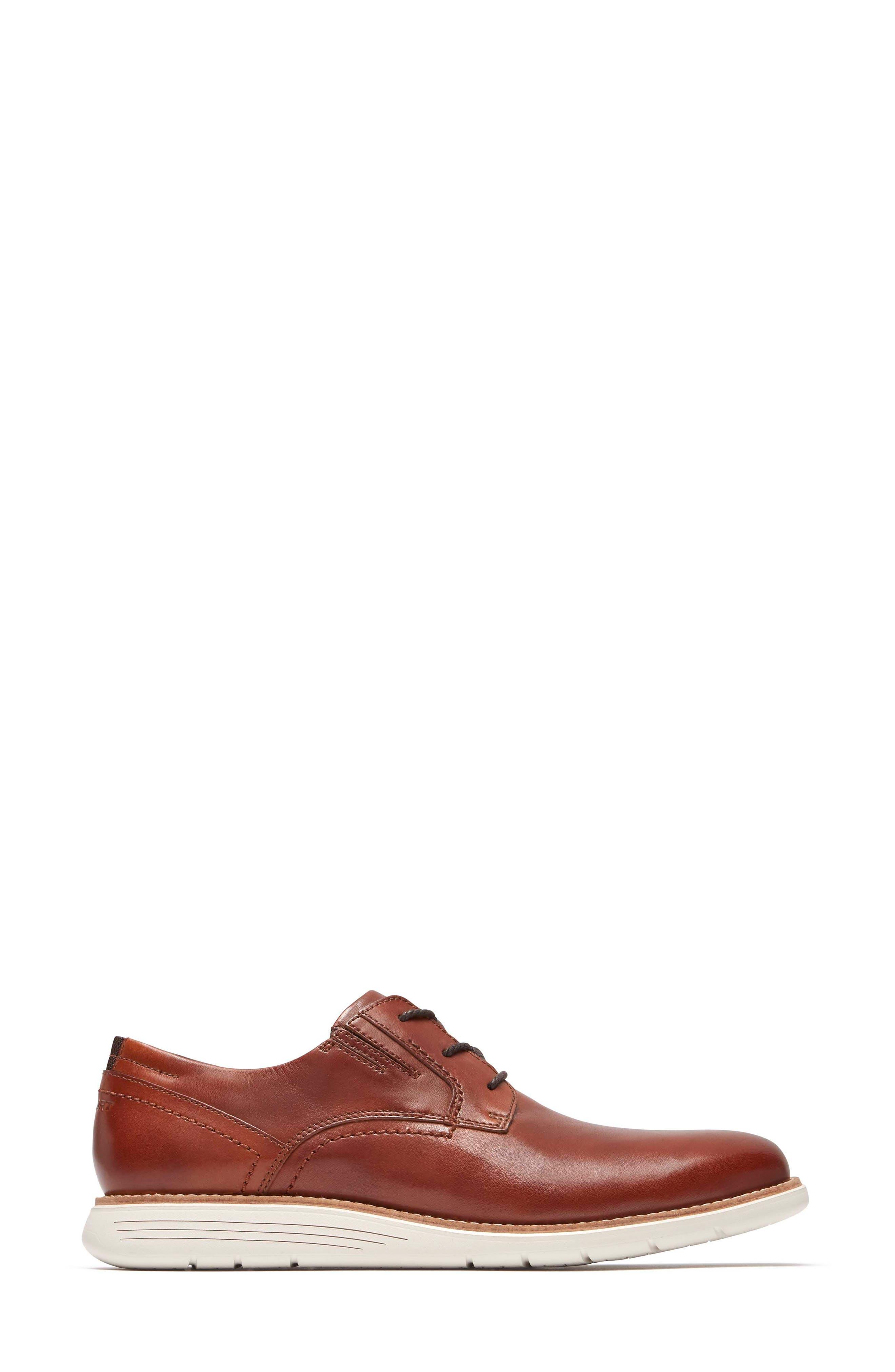 Total Motion Sport Plain Toe Derby,                             Alternate thumbnail 3, color,                             Tan Leather
