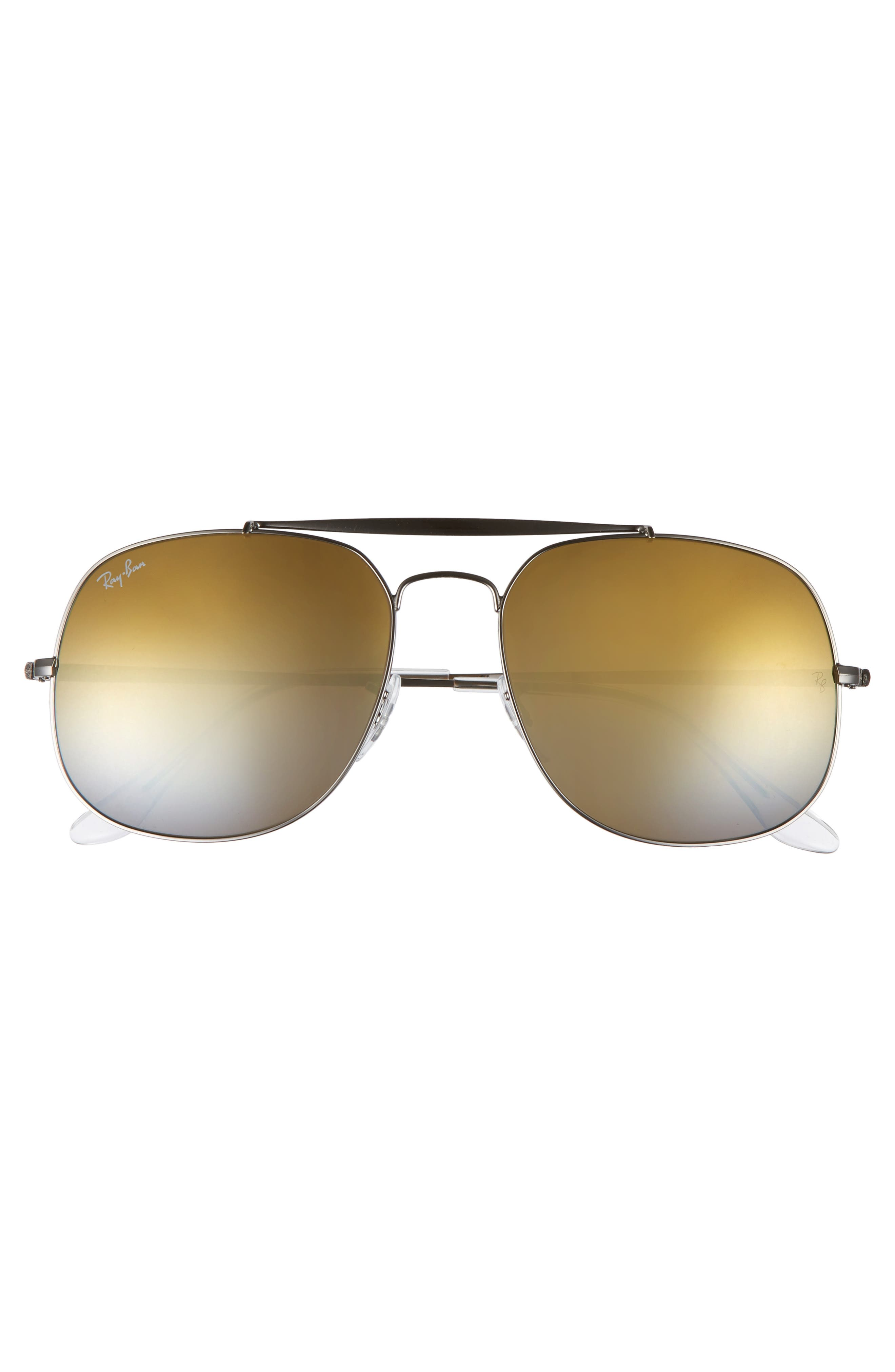 The General 57mm Aviator Sunglasses,                             Alternate thumbnail 2, color,                             Grey/ Orange