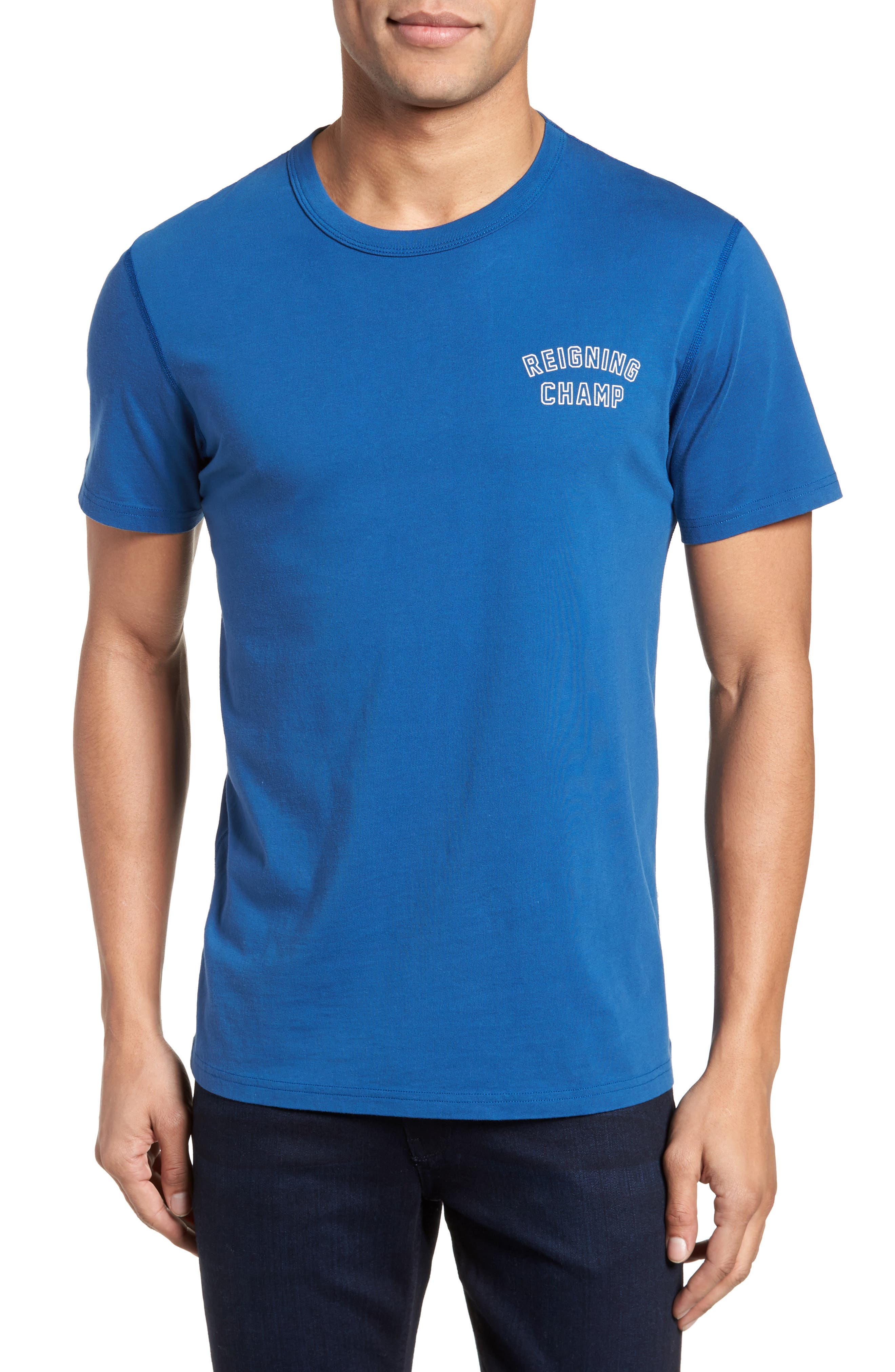 Varsity Logo T-Shirt,                             Main thumbnail 1, color,                             Court Blue/ White