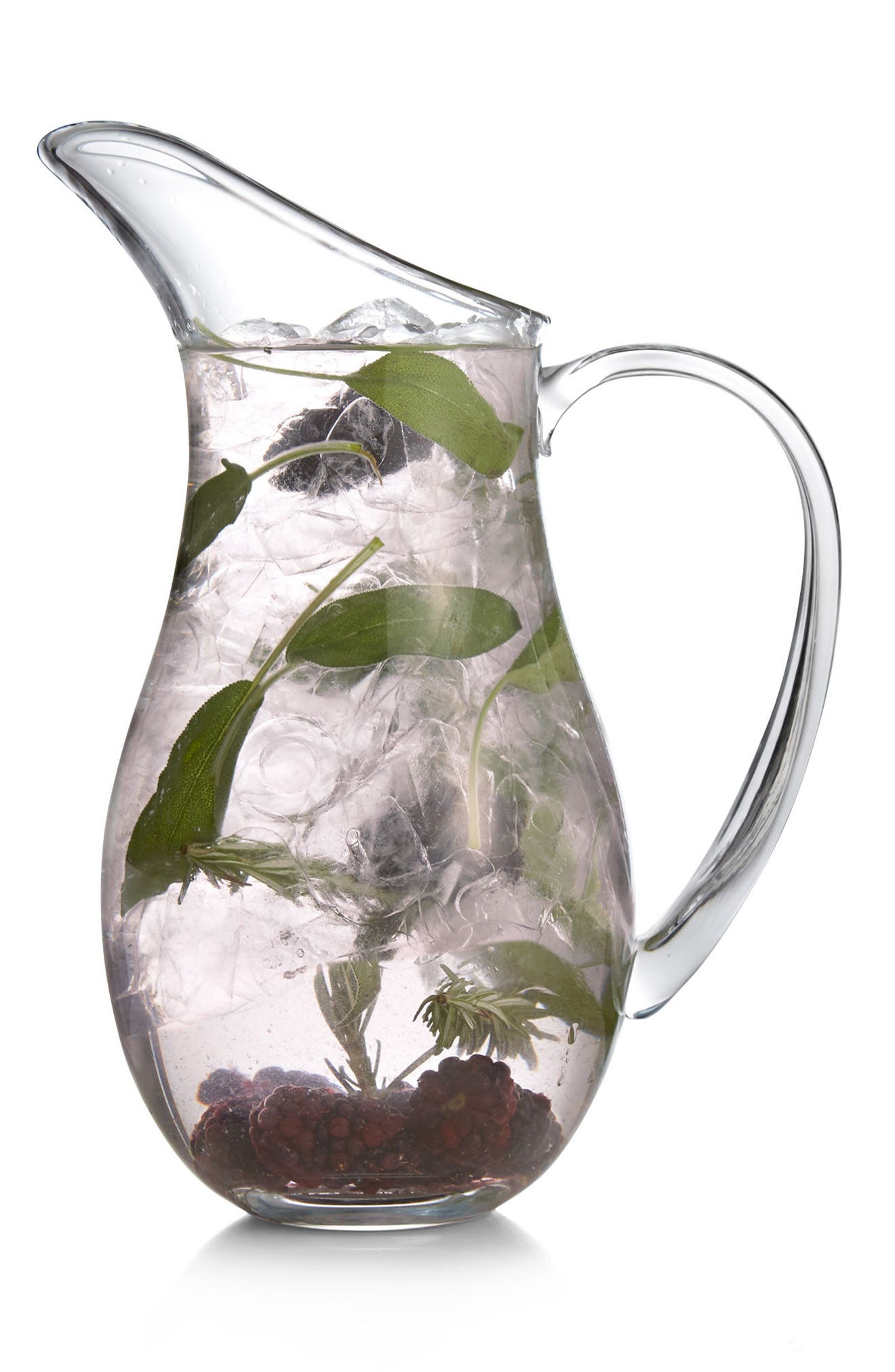 Moderne Large Pitcher,                             Alternate thumbnail 2, color,                             Clear