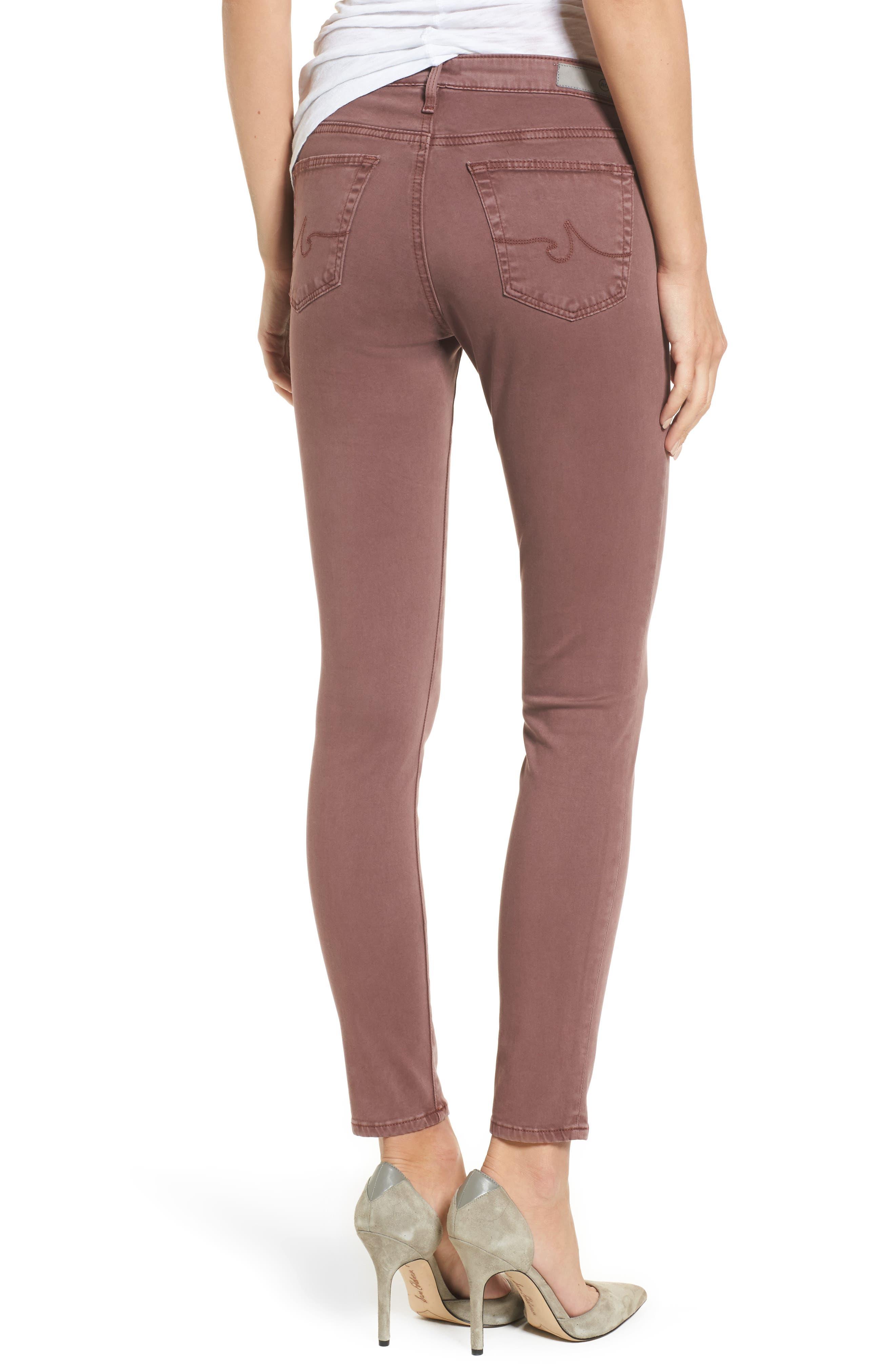 The Legging Ankle Jeans,                             Alternate thumbnail 2, color,                             Sulfur Blackberry